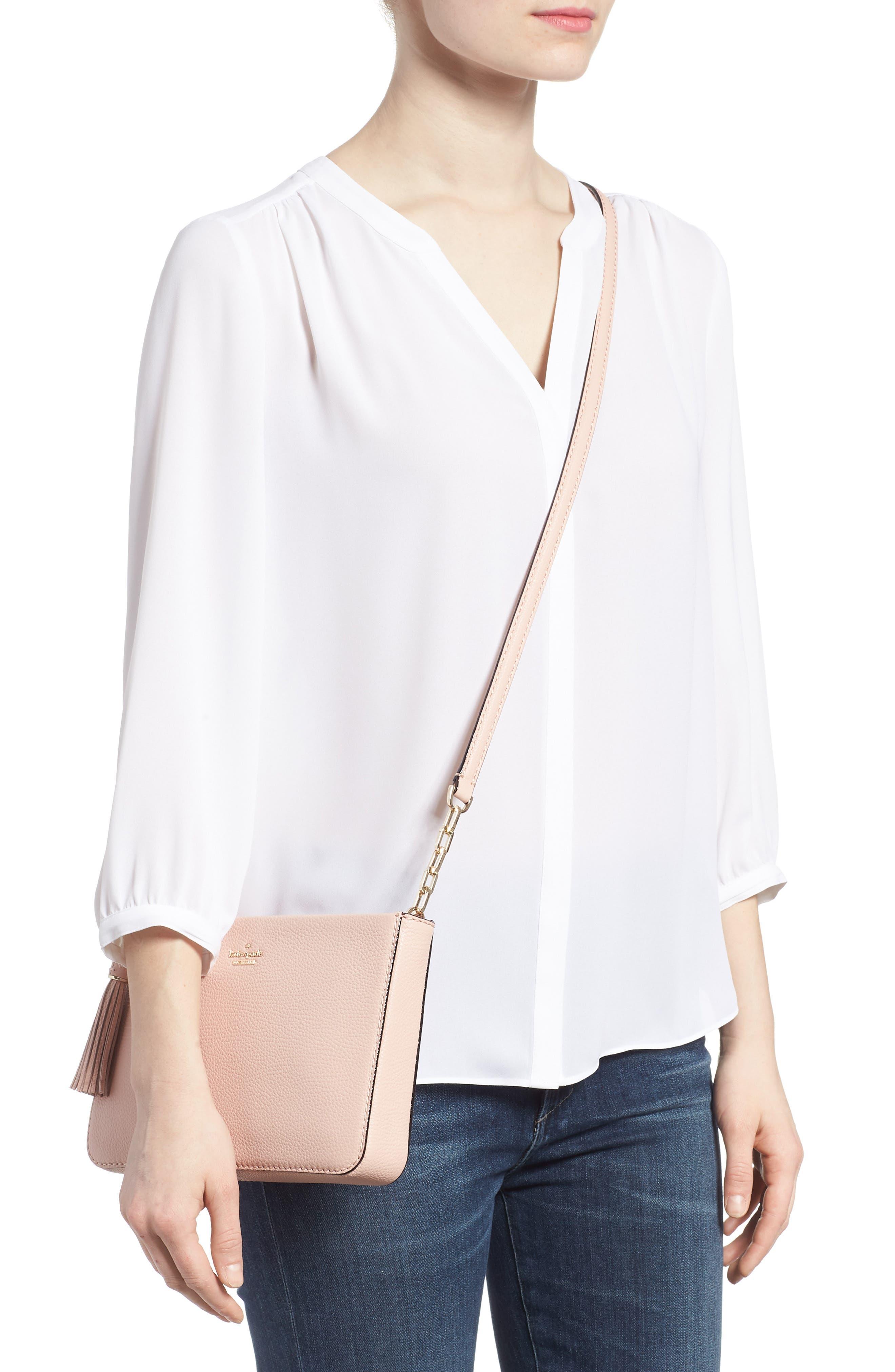 kingston drive - alessa leather shoulder/crossbody bag,                             Alternate thumbnail 2, color,                             Warm Vellum