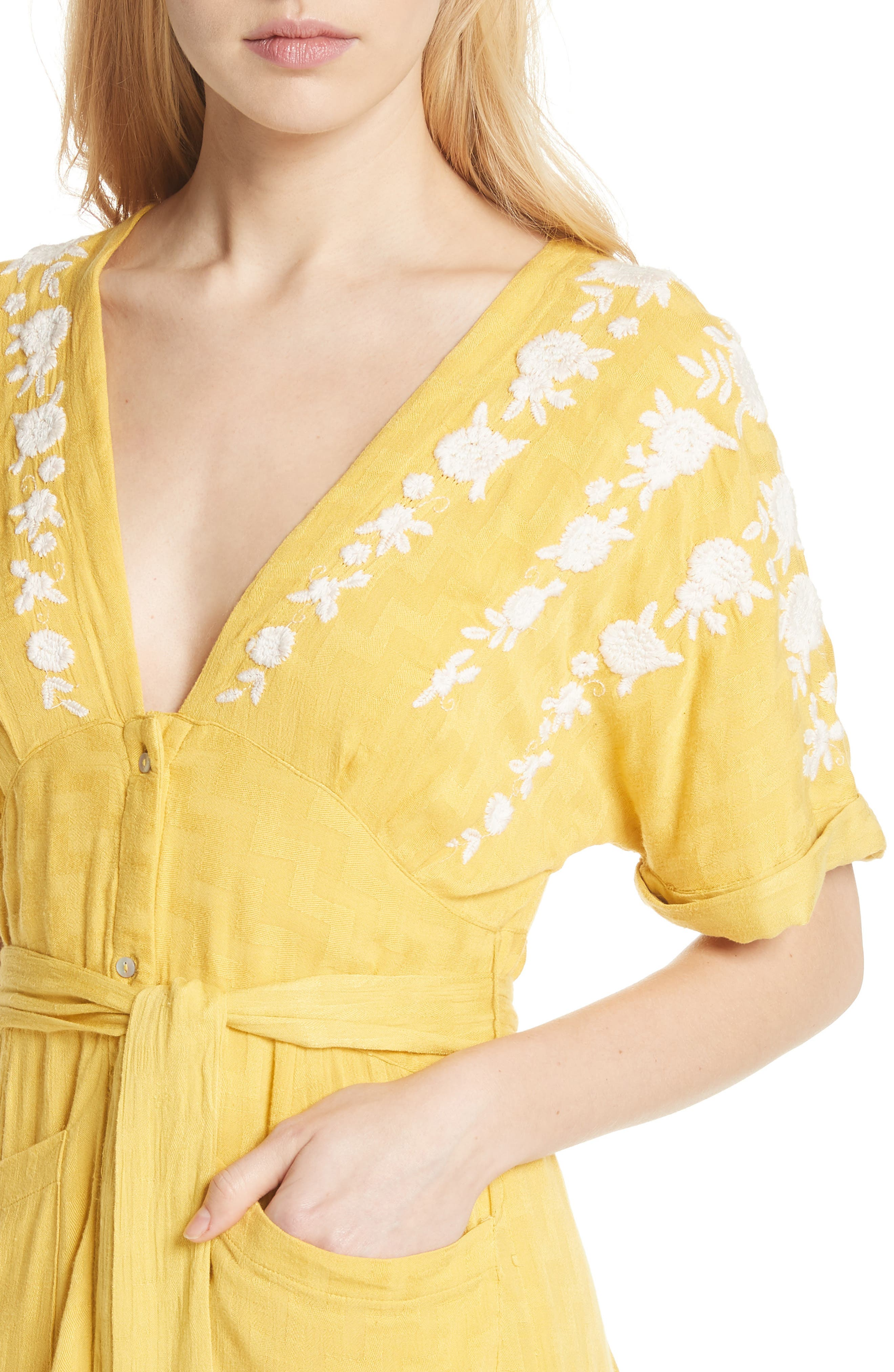 Love to Love You Dress,                             Alternate thumbnail 4, color,                             Yellow