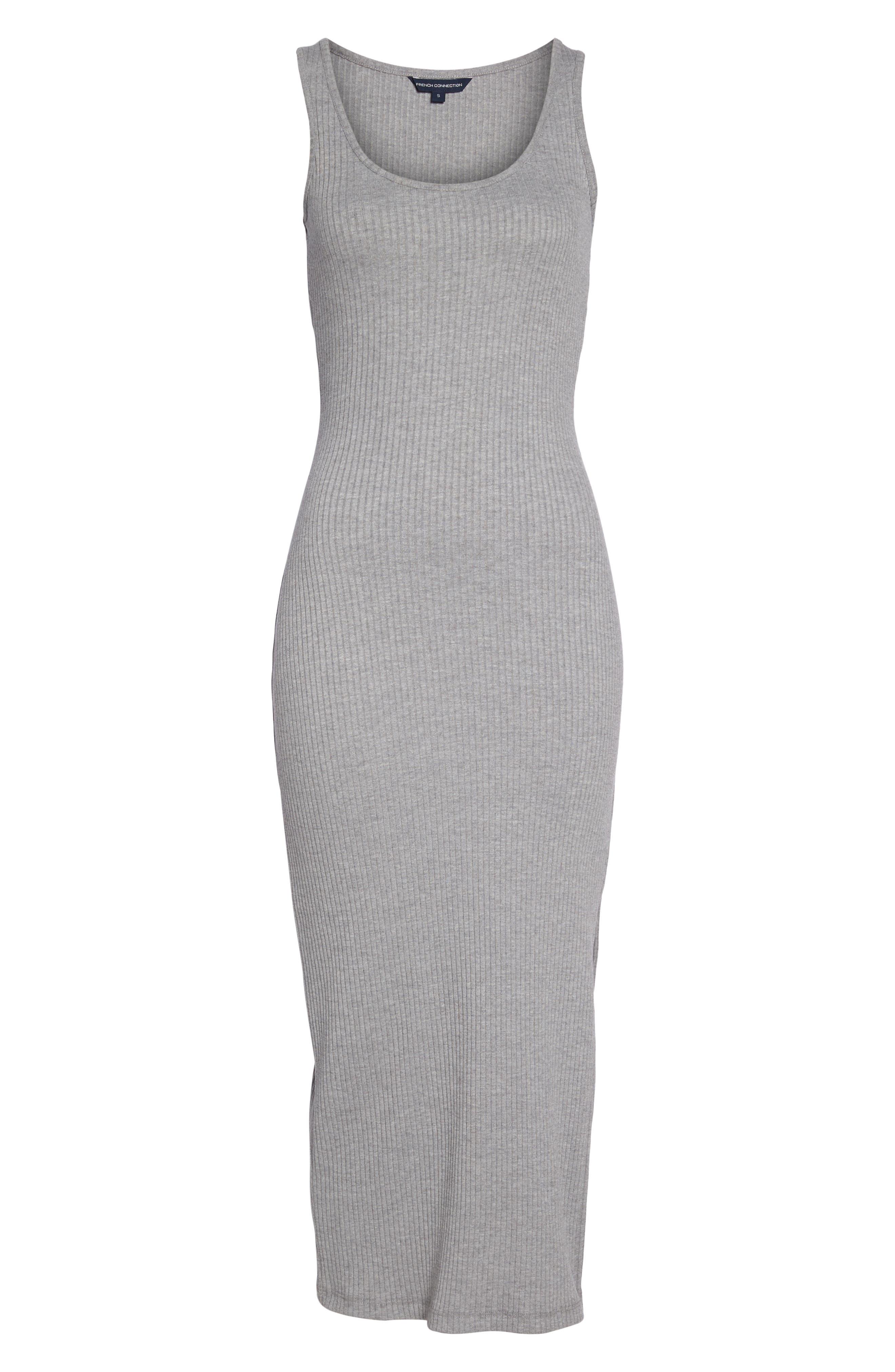 Tommy Rib Knit Tank Dress,                             Alternate thumbnail 7, color,                             Mid Grey Mel