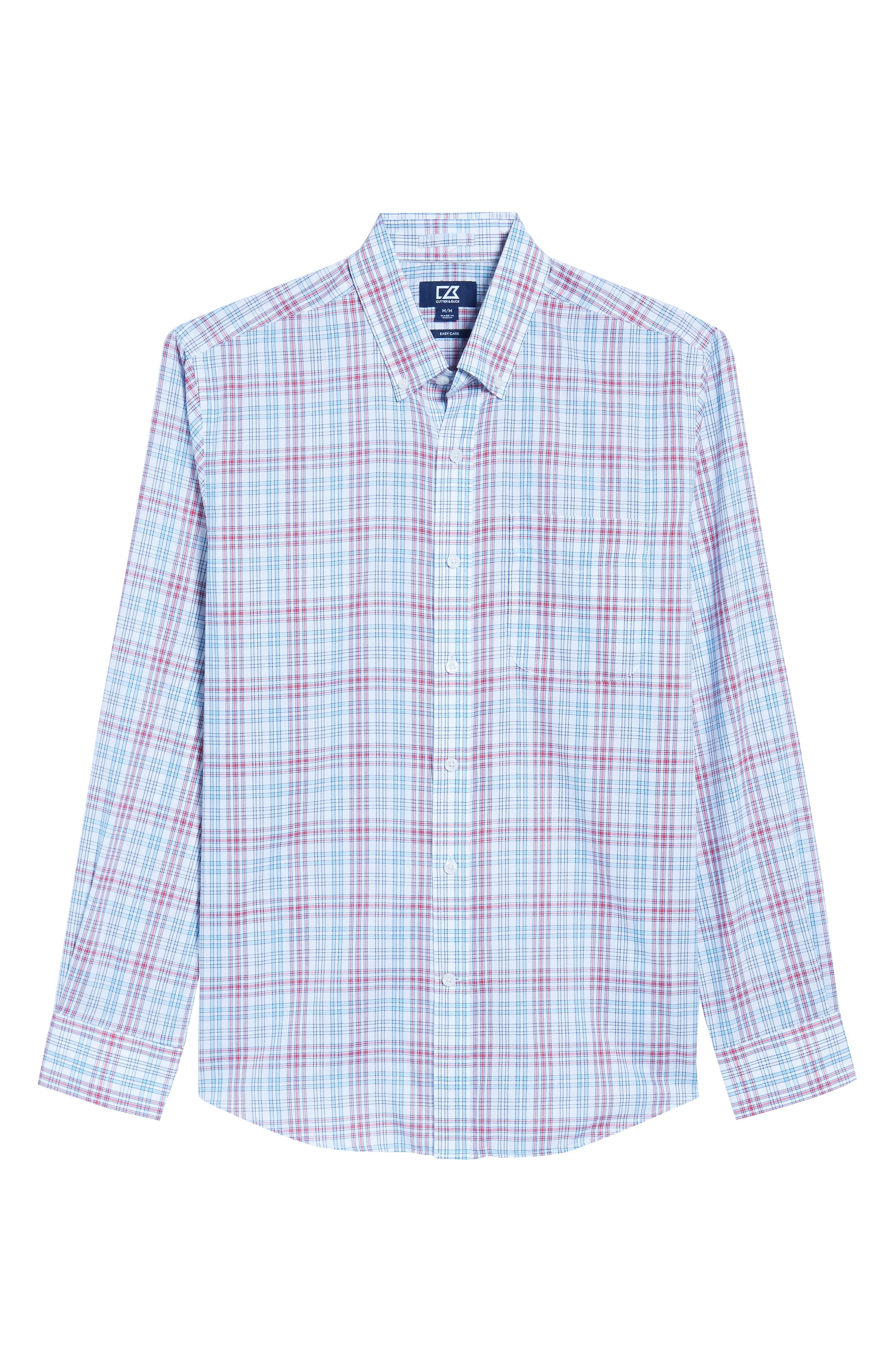 Alternate Image 6  - Cutter & Buck Charlie Classic Fit Easy Care Check Sport Shirt