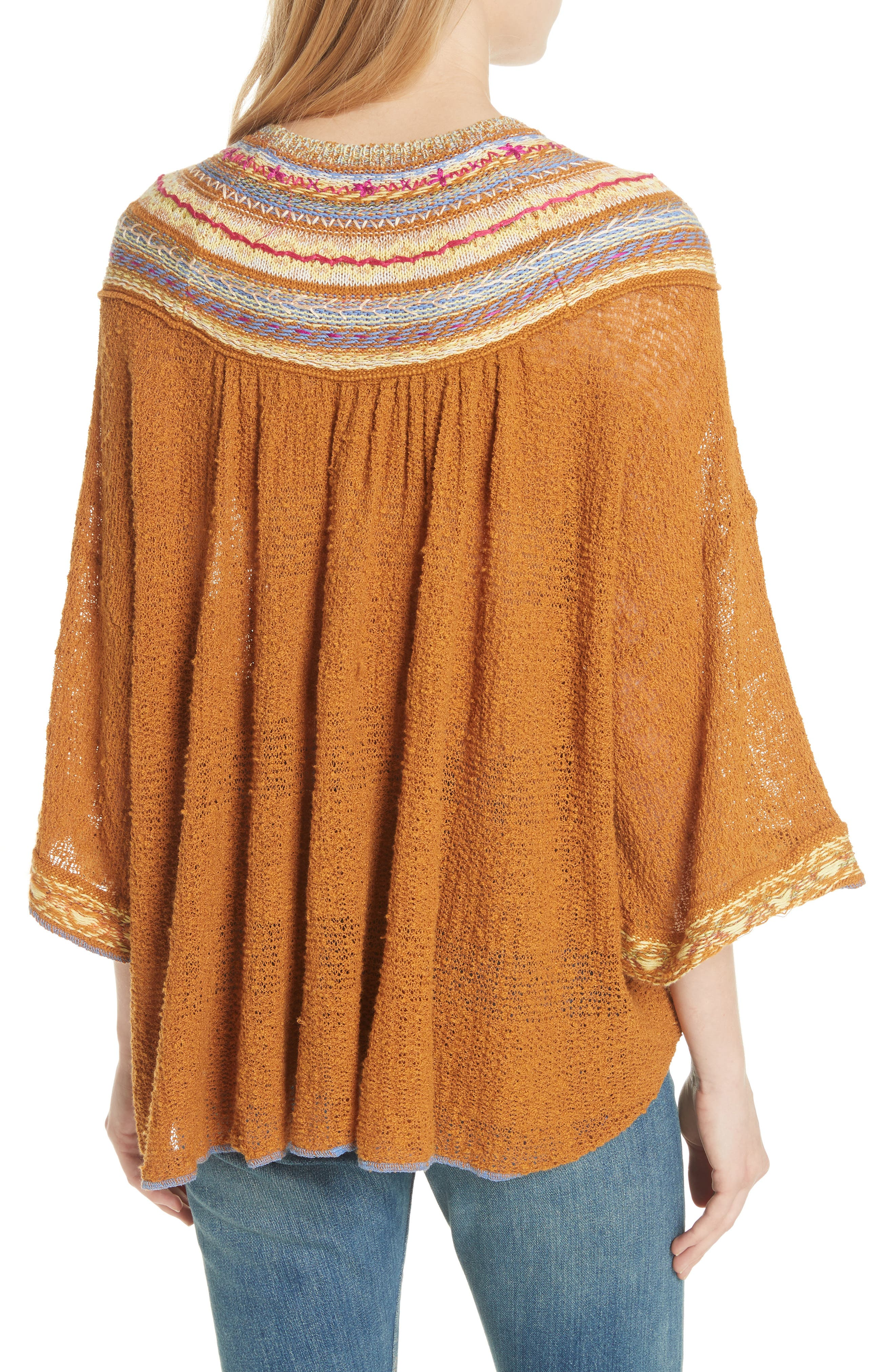 Vacation Sweater,                             Alternate thumbnail 2, color,                             Gold