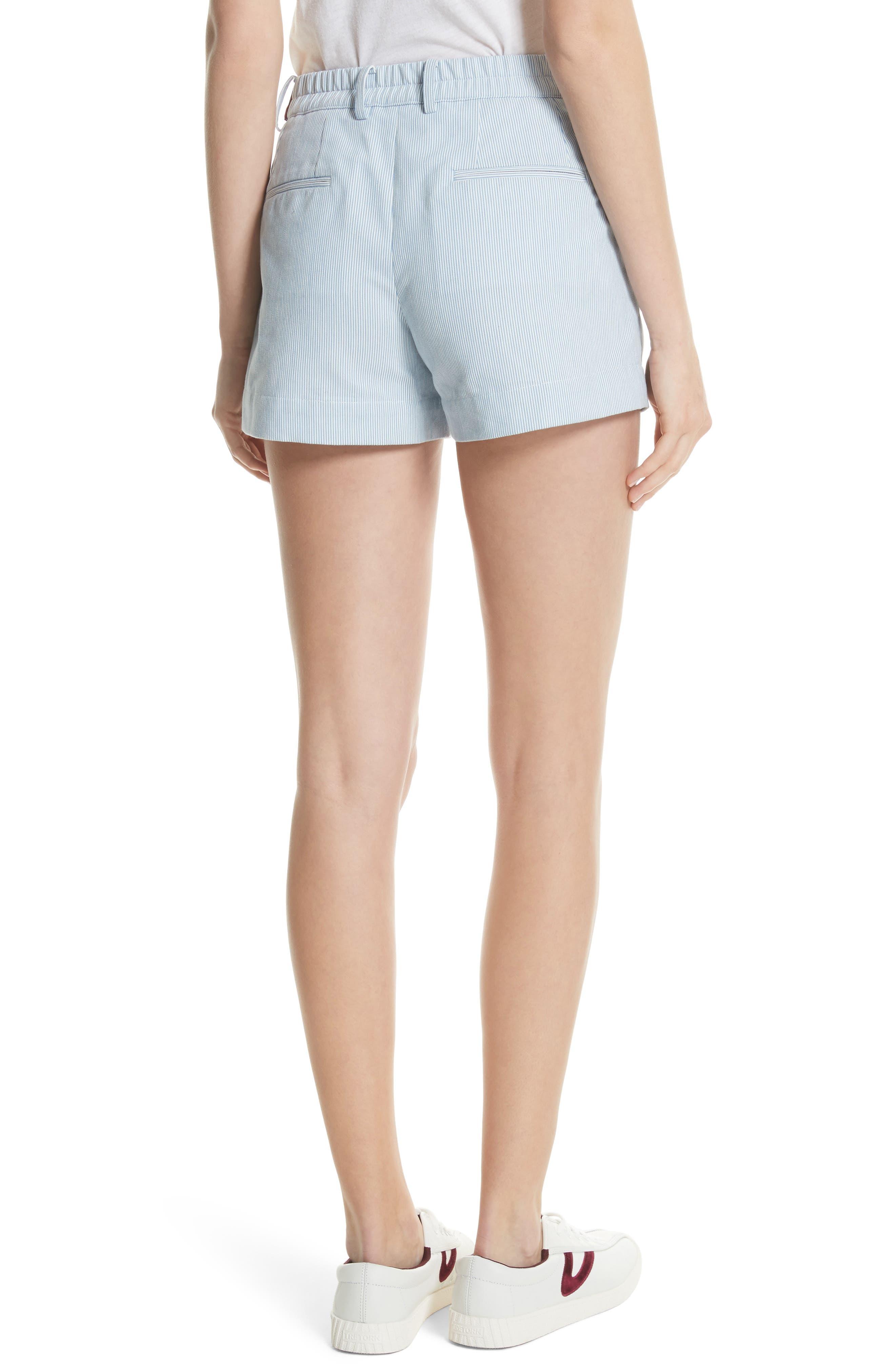 Multi Belt Shorts,                             Alternate thumbnail 2, color,                             Chambray Blue