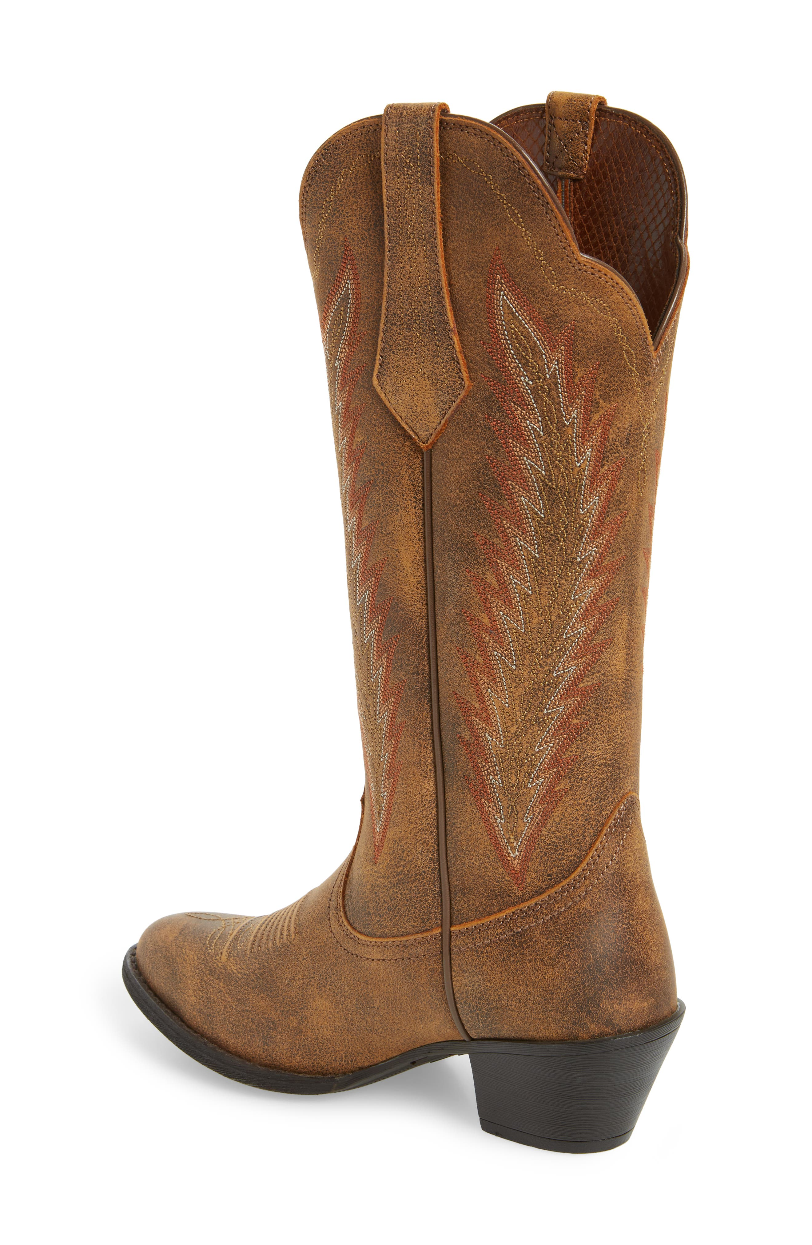 Desert Sky Western Boot,                             Alternate thumbnail 2, color,                             Vintage Bomber Leather