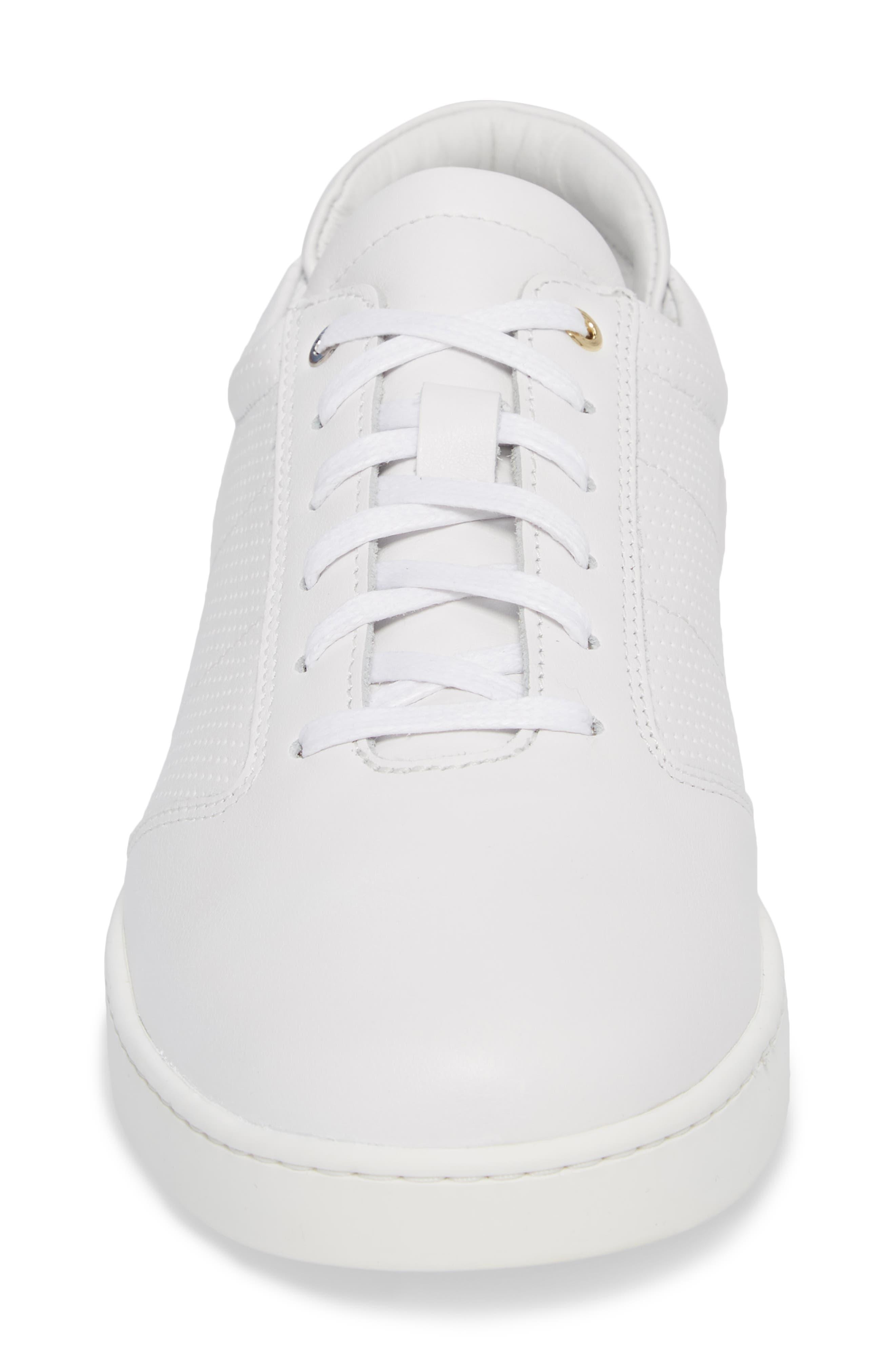 Lennon Sneaker,                             Alternate thumbnail 4, color,                             Multi Perforated White