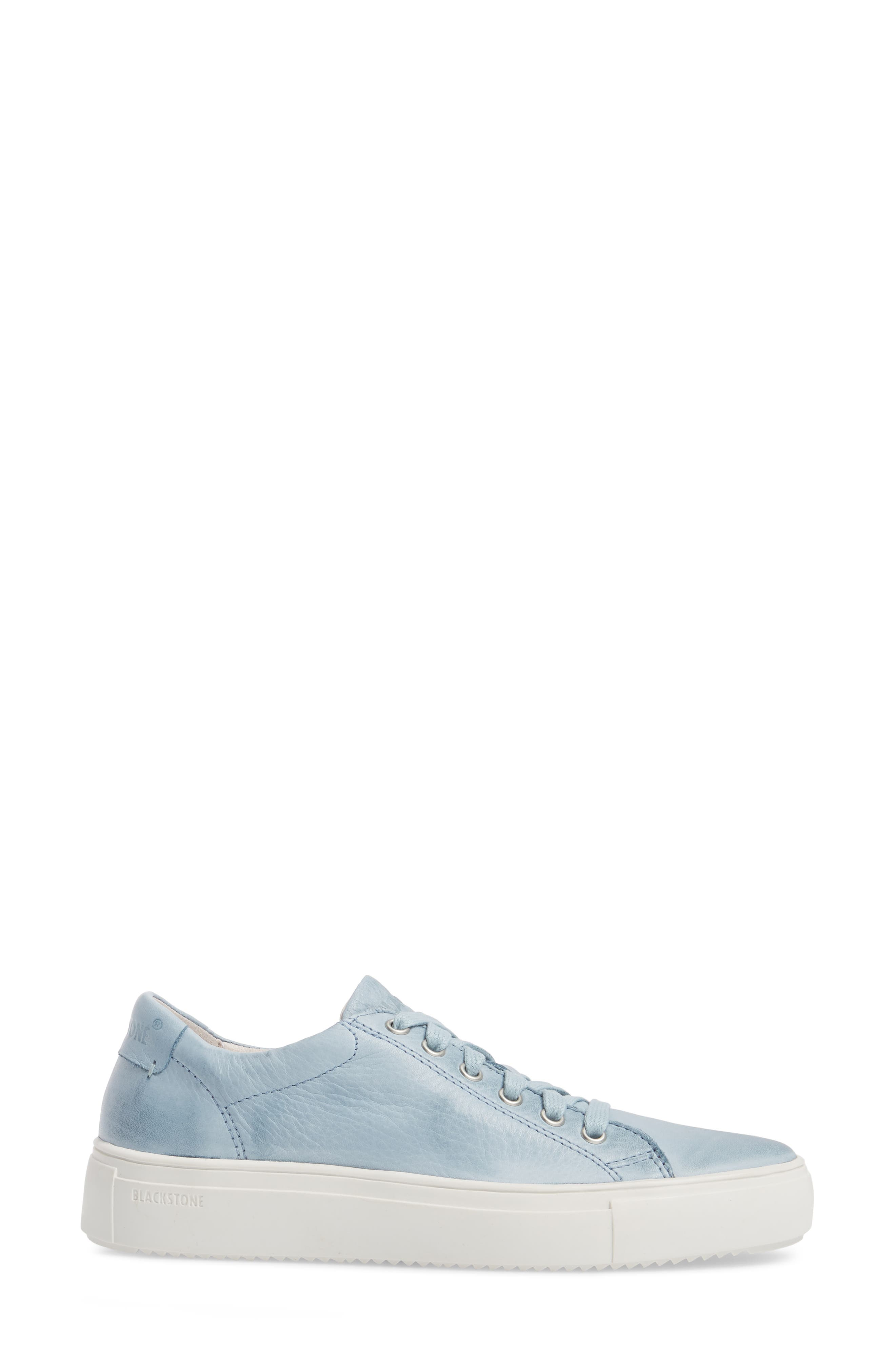 PL71 Low Top Sneaker,                             Alternate thumbnail 3, color,                             Sky Blue Leather
