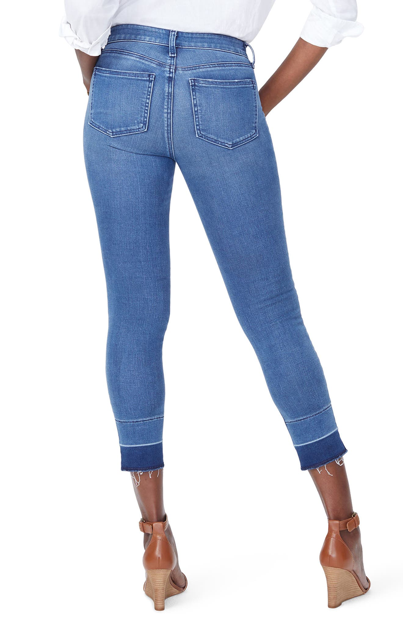 Alina Release Hem Ankle Skinny Jeans,                             Alternate thumbnail 3, color,                             Wishful