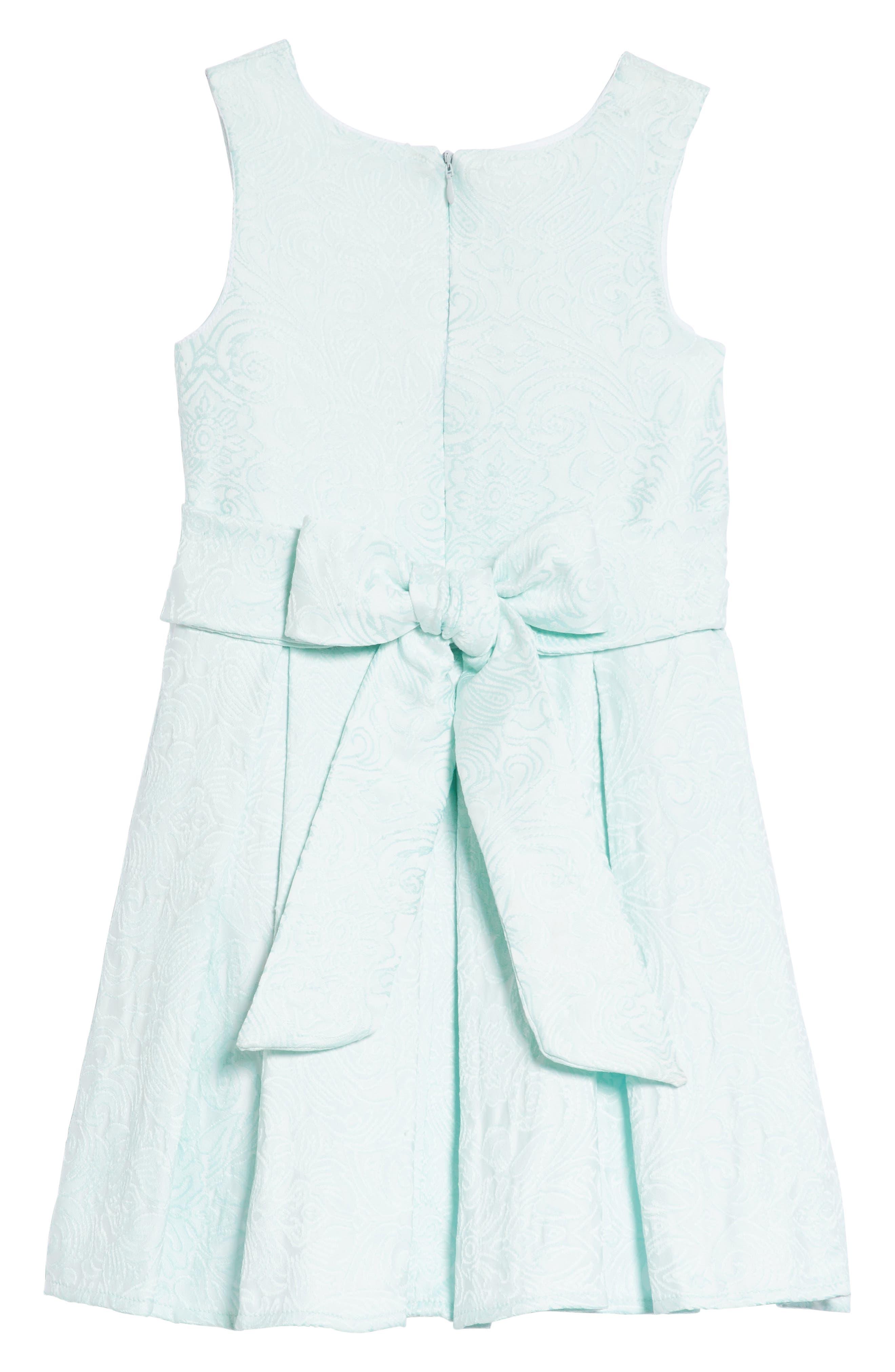 Megan Jacquard Dress,                             Alternate thumbnail 2, color,                             Aqua