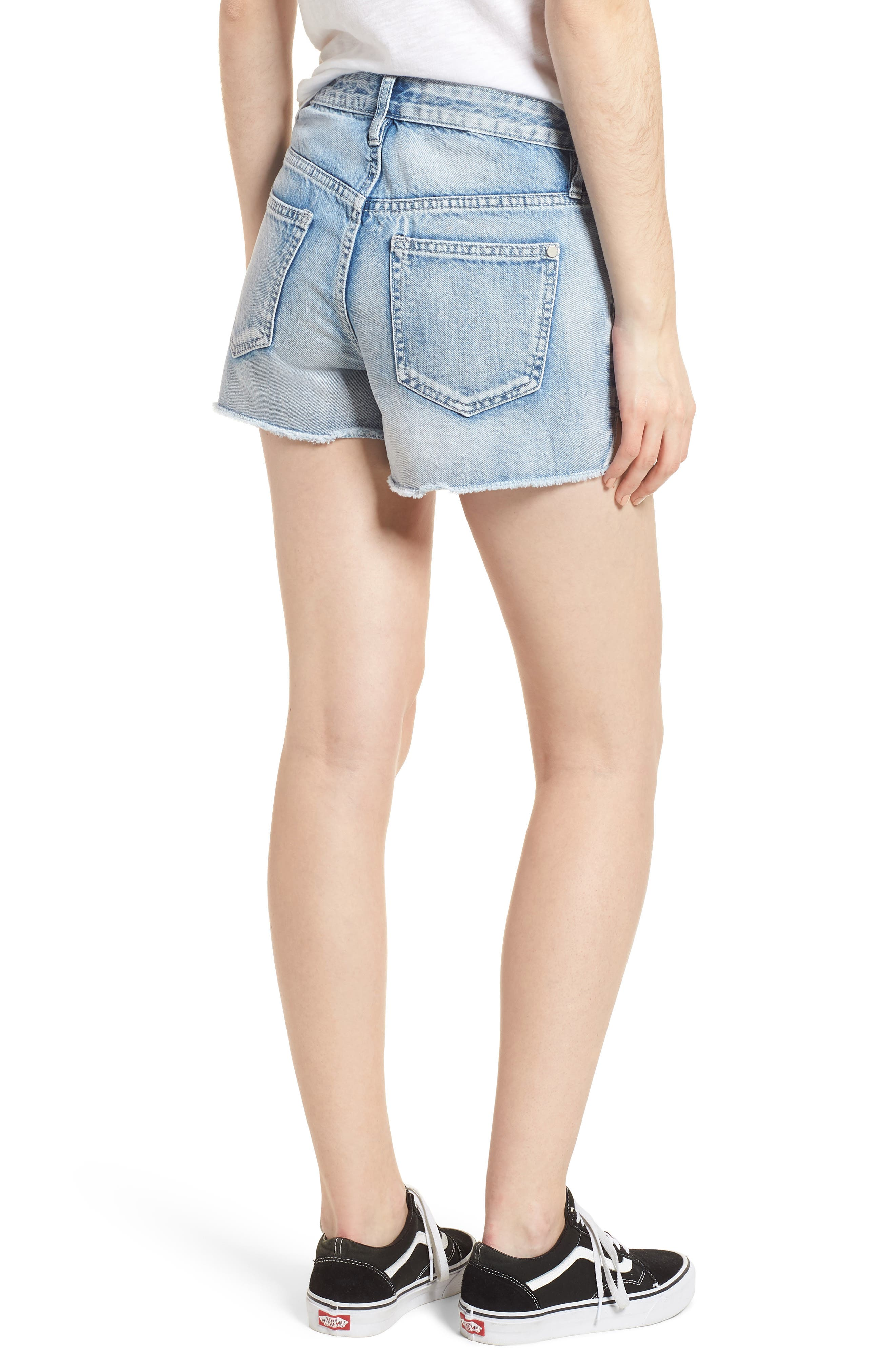 Acid Wash Star Denim Shorts,                             Alternate thumbnail 2, color,                             Super Light Acid