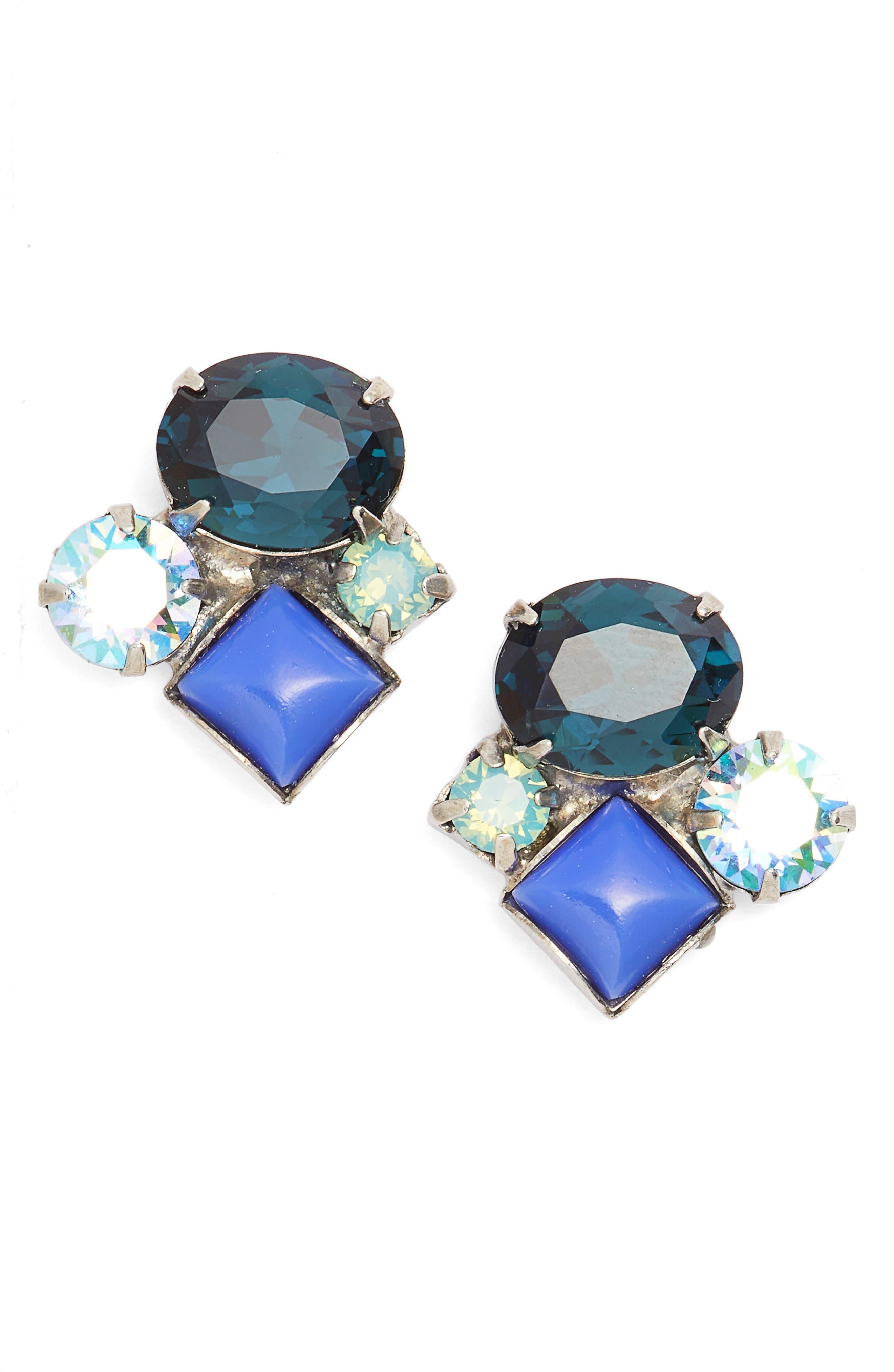 Ivy Earrings,                         Main,                         color, Purple/ Blue