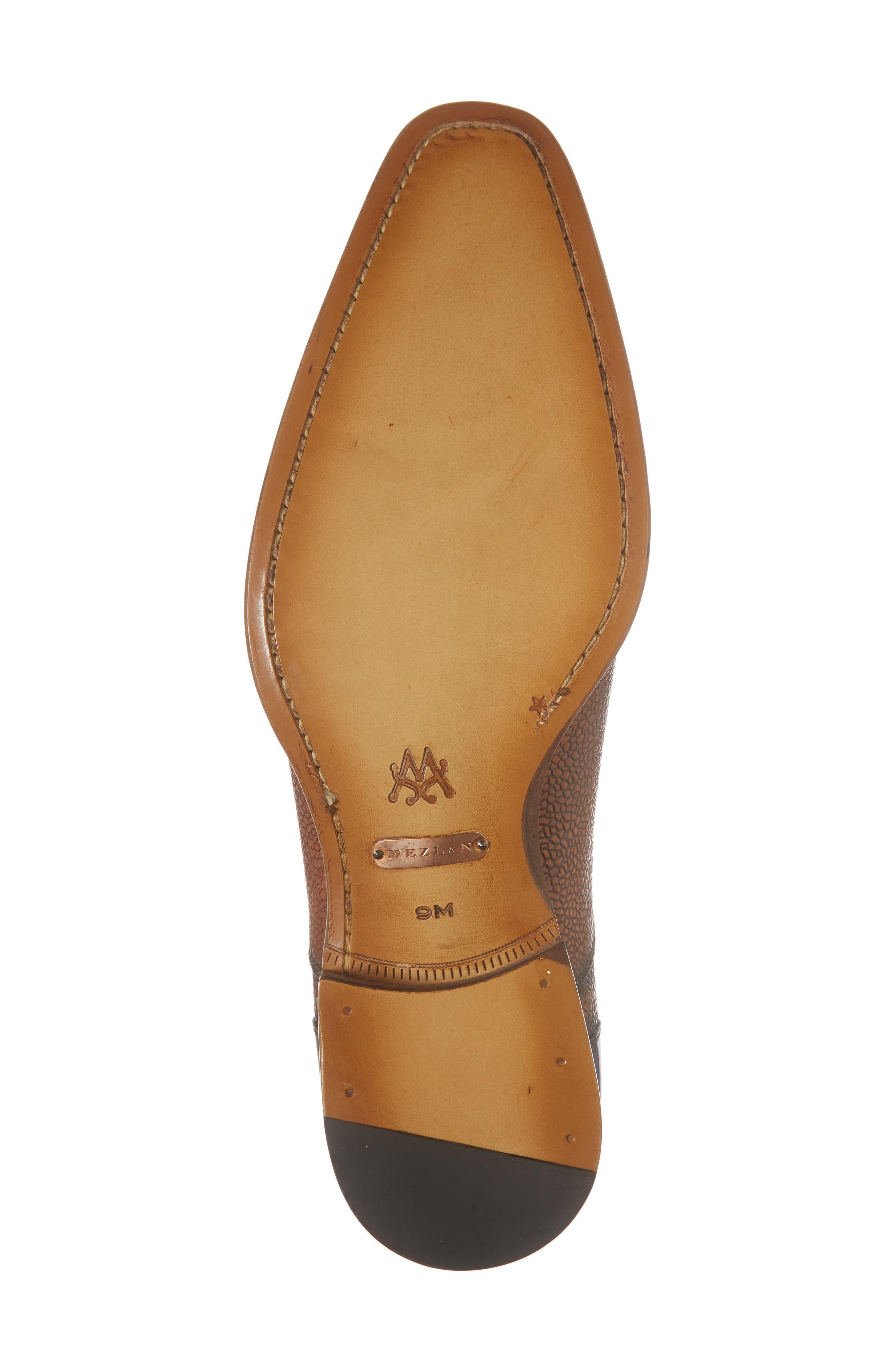 Verino Cap Toe Oxford,                             Alternate thumbnail 6, color,                             Blue/ Tan Leather