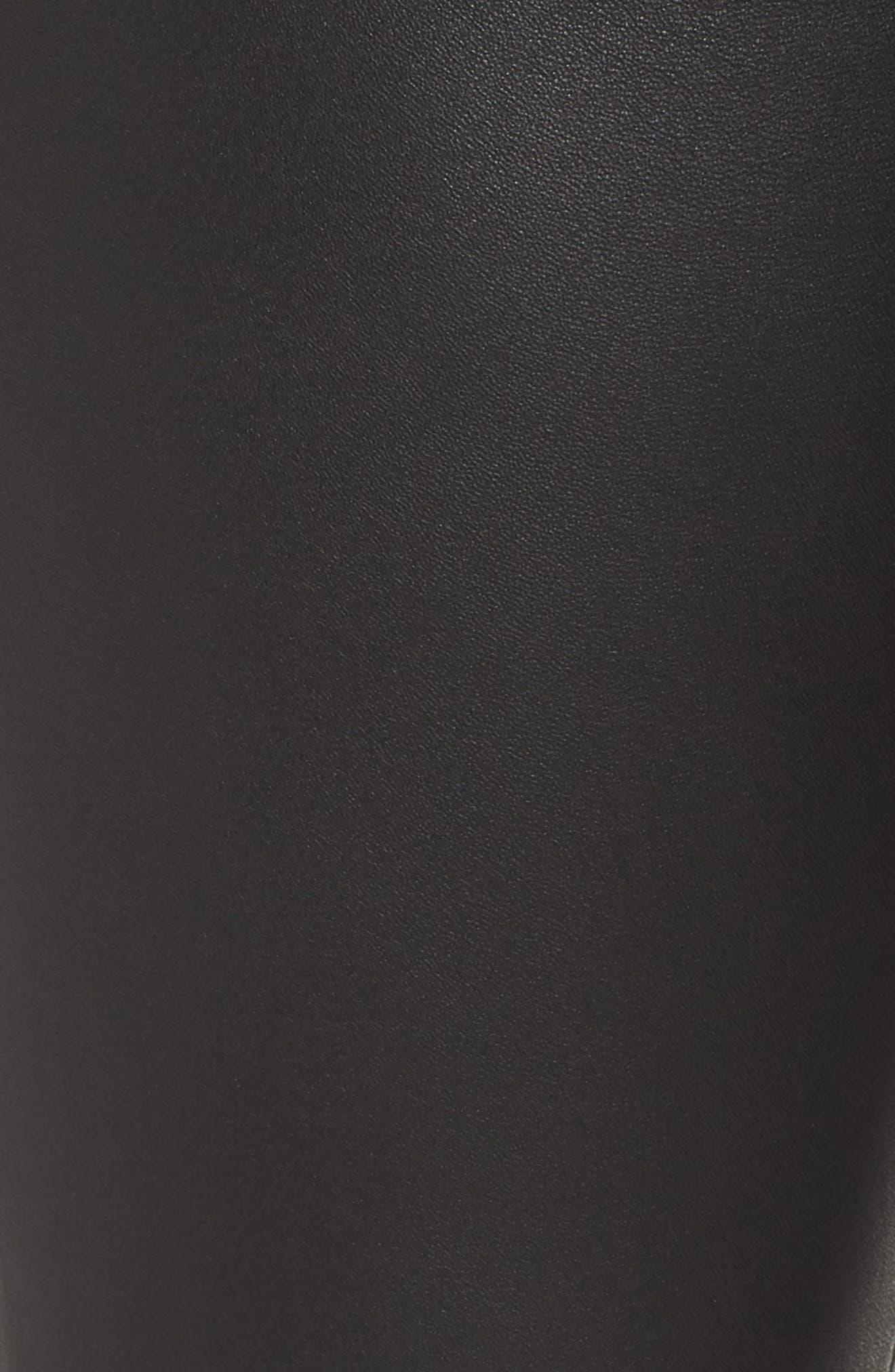 Eboli Leather Pants,                             Alternate thumbnail 6, color,                             Black