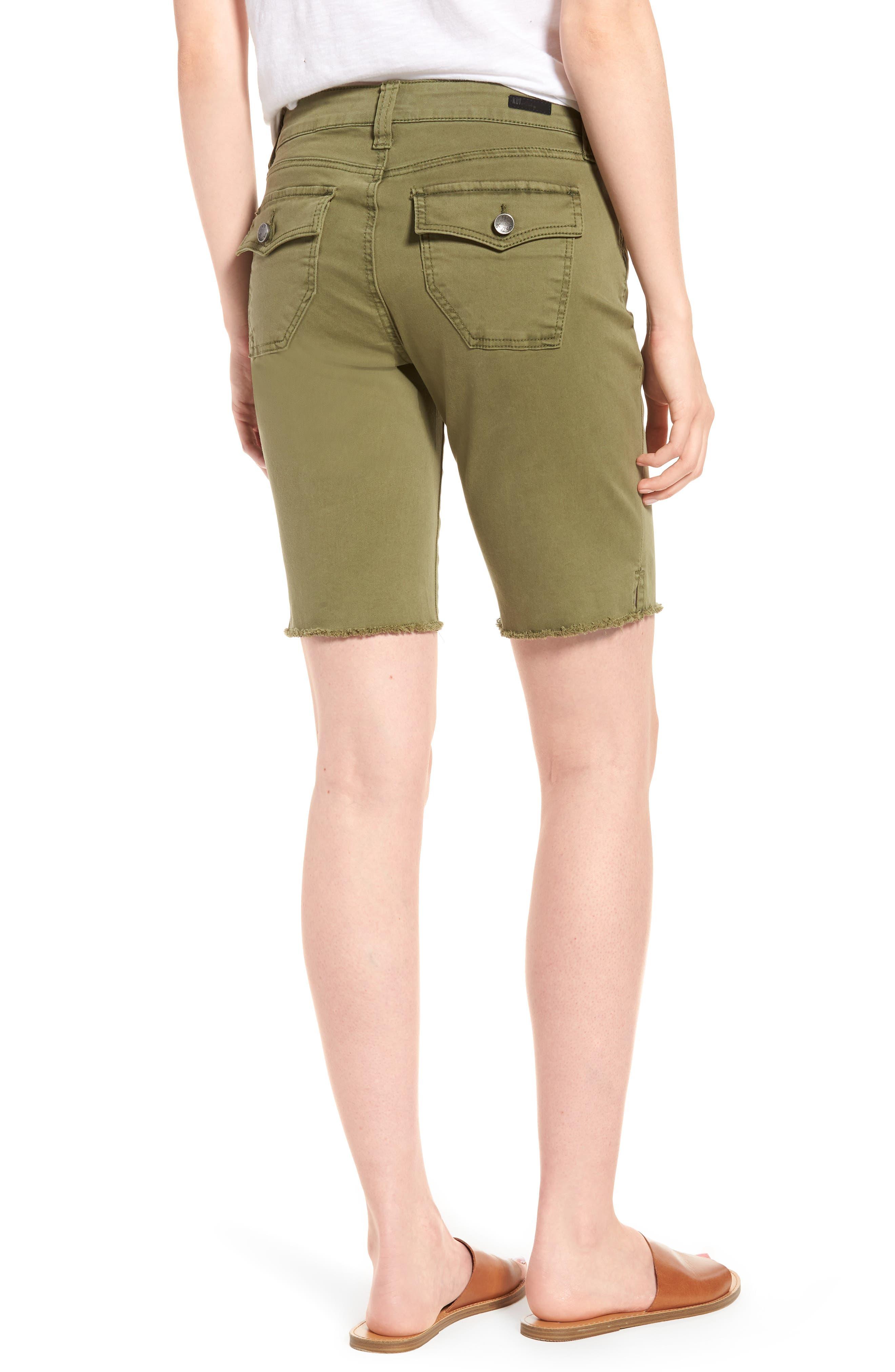 Natalie Bermuda Shorts,                             Alternate thumbnail 2, color,                             Olive
