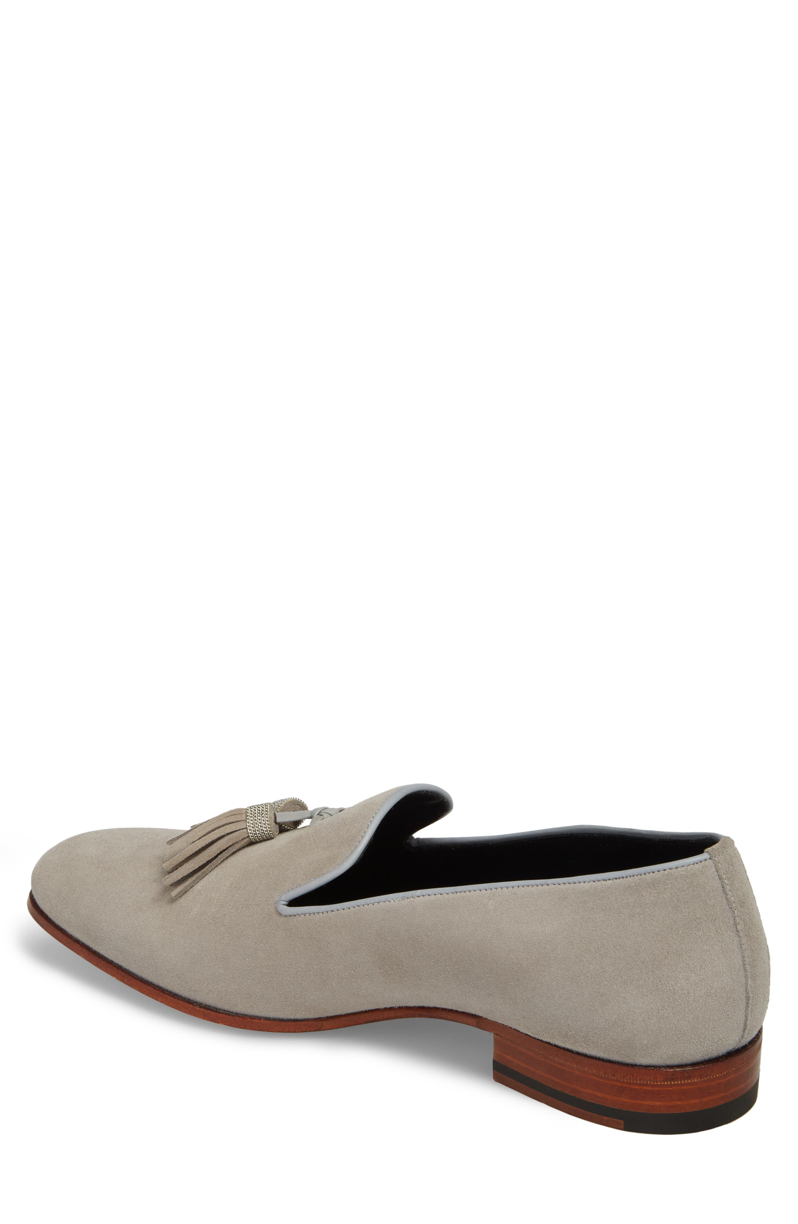 Picus Tassel Loafer,                             Alternate thumbnail 2, color,                             Pearl Grey Suede