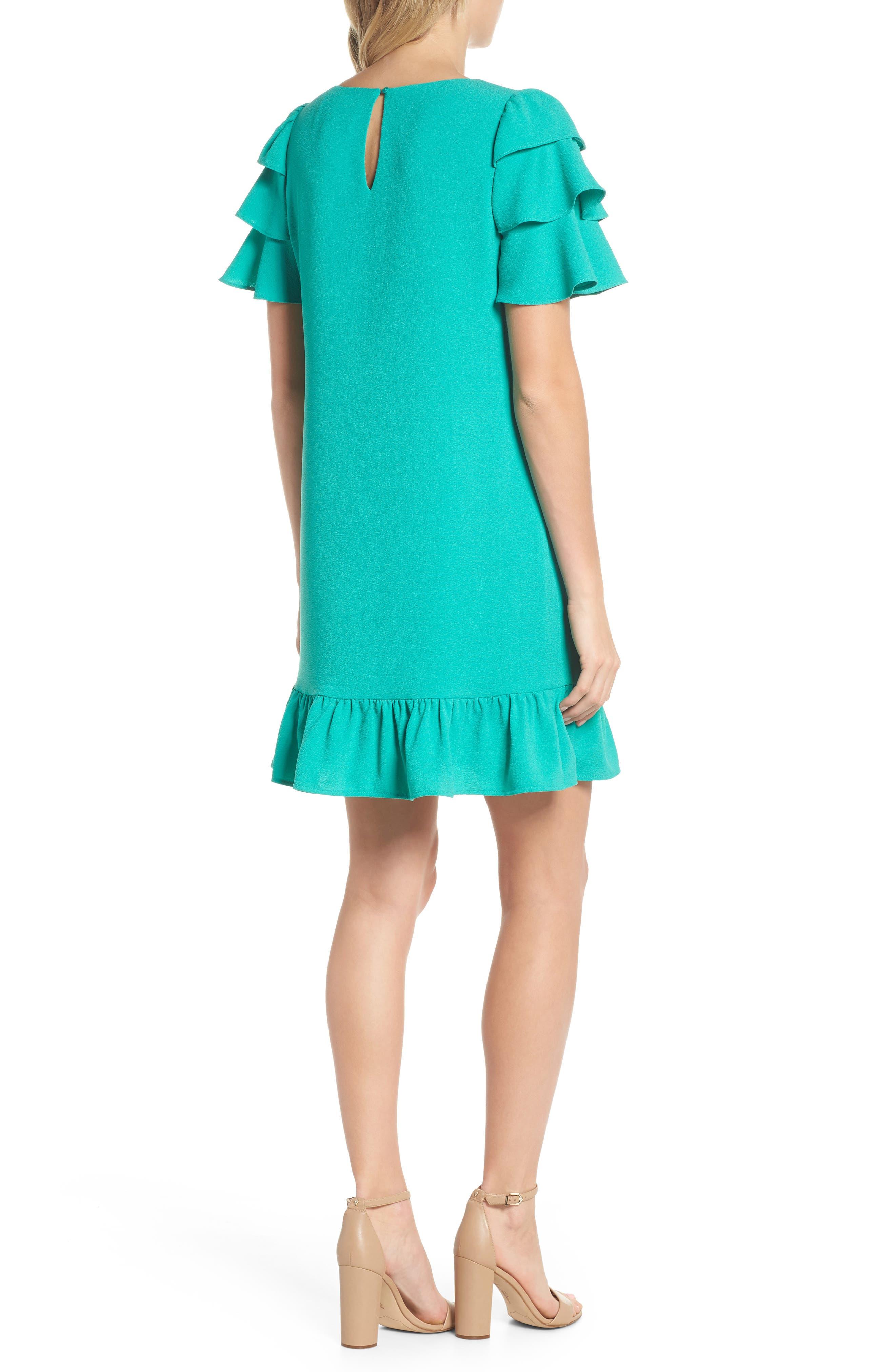 Alternate Image 2  - Charles Henry Tiered Ruffle Shift Dress (Regular & Petite)