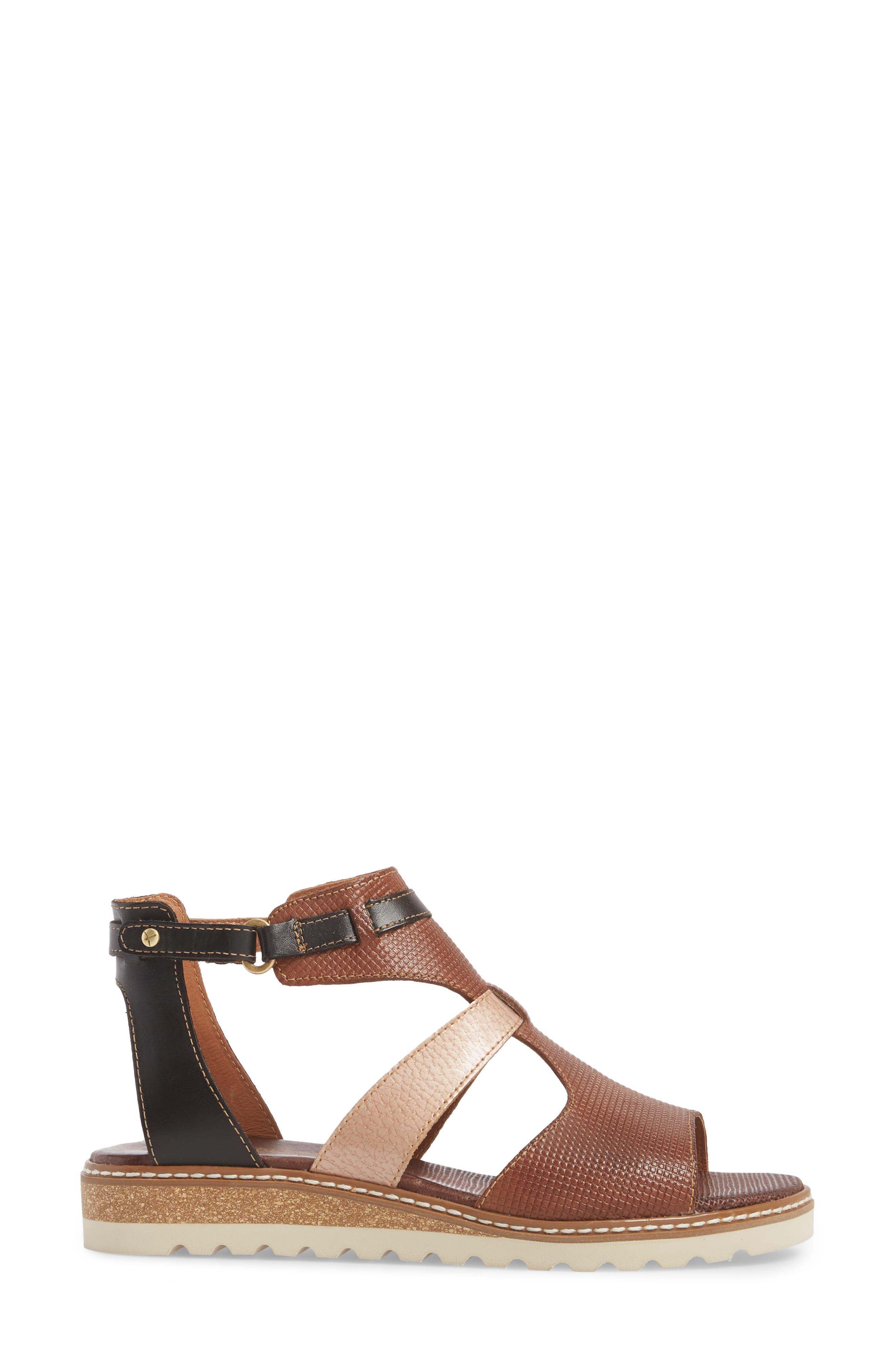 Alcudia Sandal,                             Alternate thumbnail 3, color,                             Cuero Leather