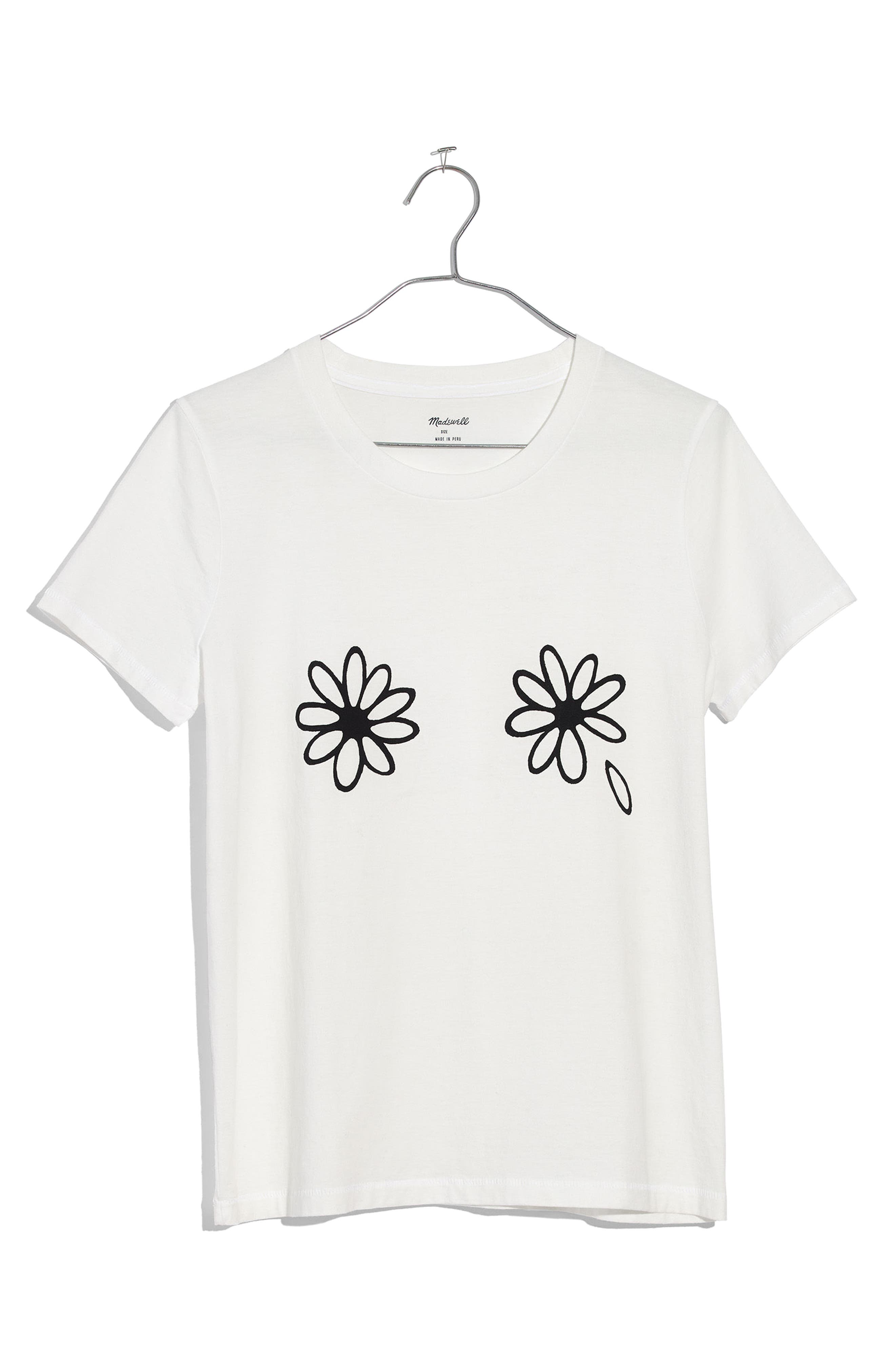 Daisies Graphic Tee,                             Alternate thumbnail 4, color,                             White Wash