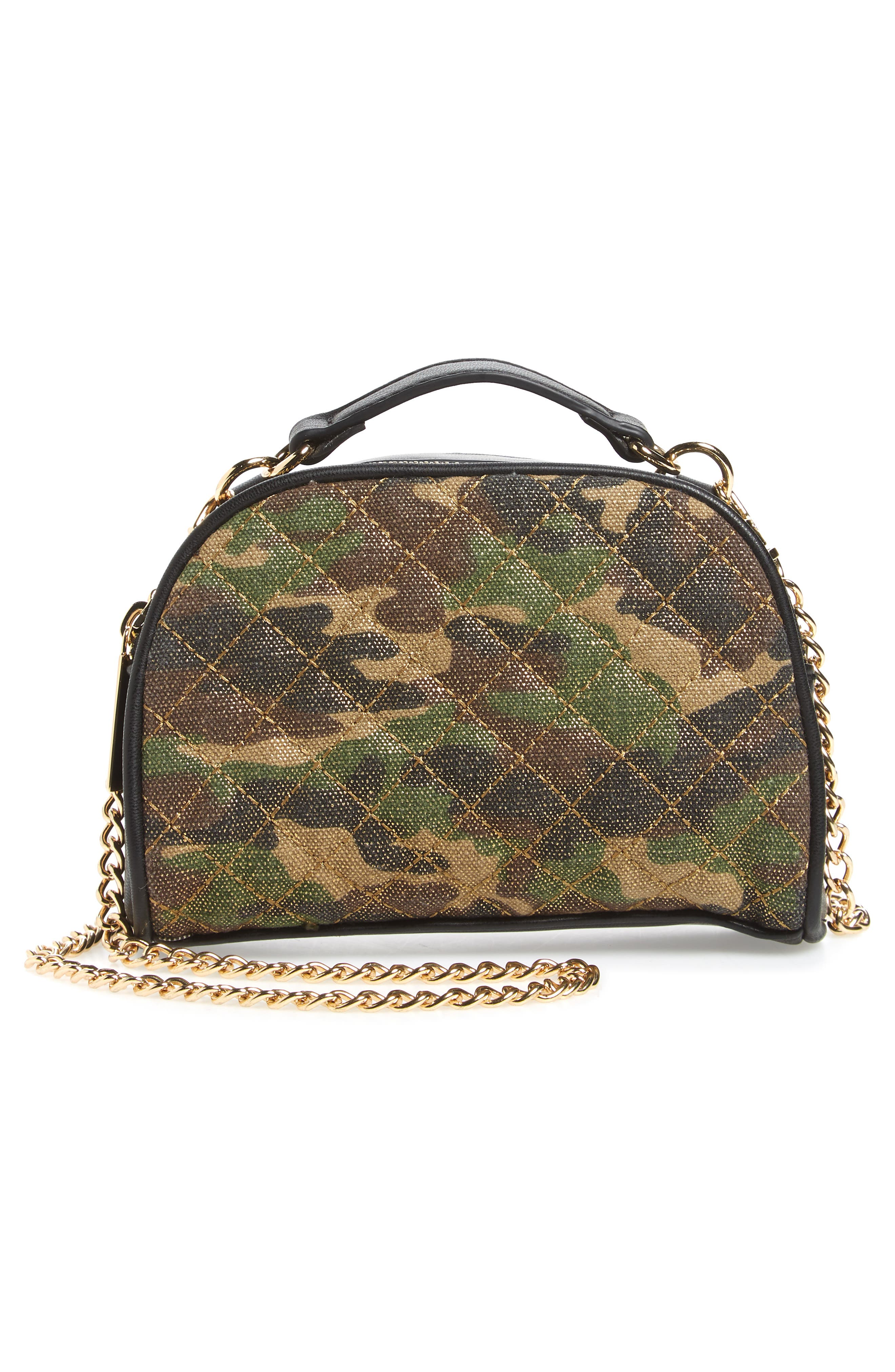 Mali + Lili Quilted Camouflage Belt Bag,                             Alternate thumbnail 5, color,                             Camouflage