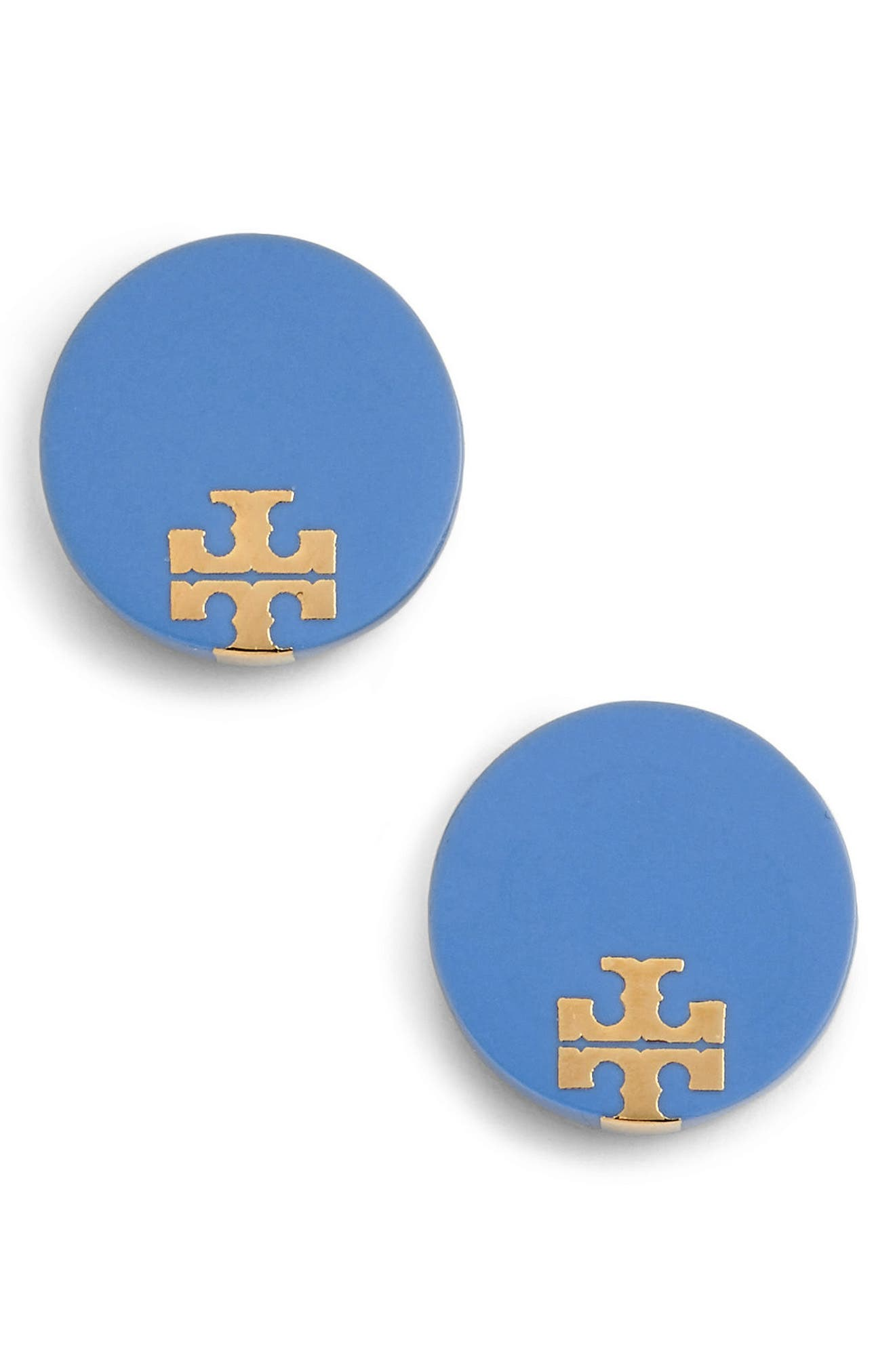 Tory Burch Enamel Logo Stud Earrings