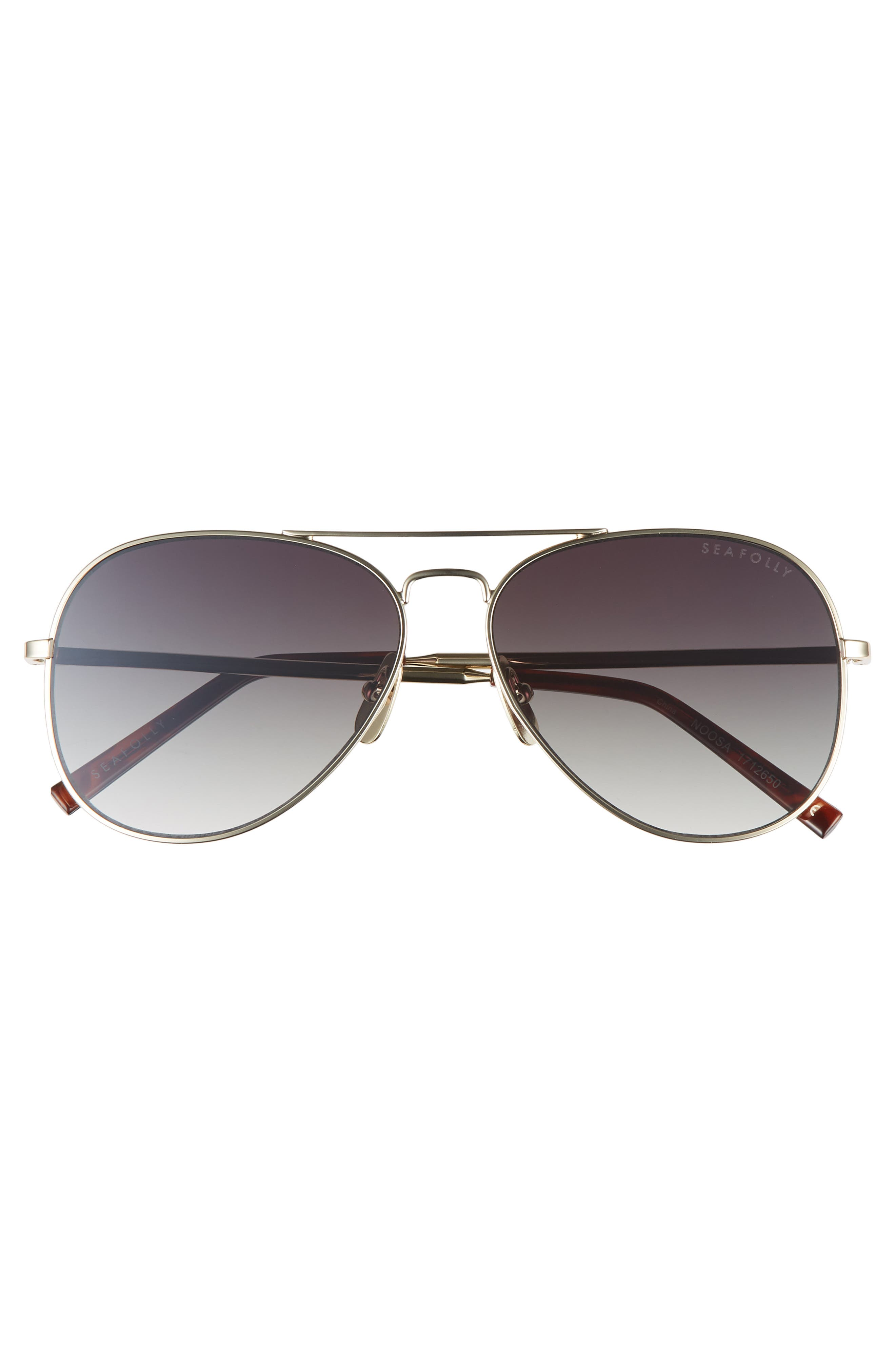 Noosa 51mm Metal Aviator Sunglasses,                             Alternate thumbnail 3, color,                             Gold