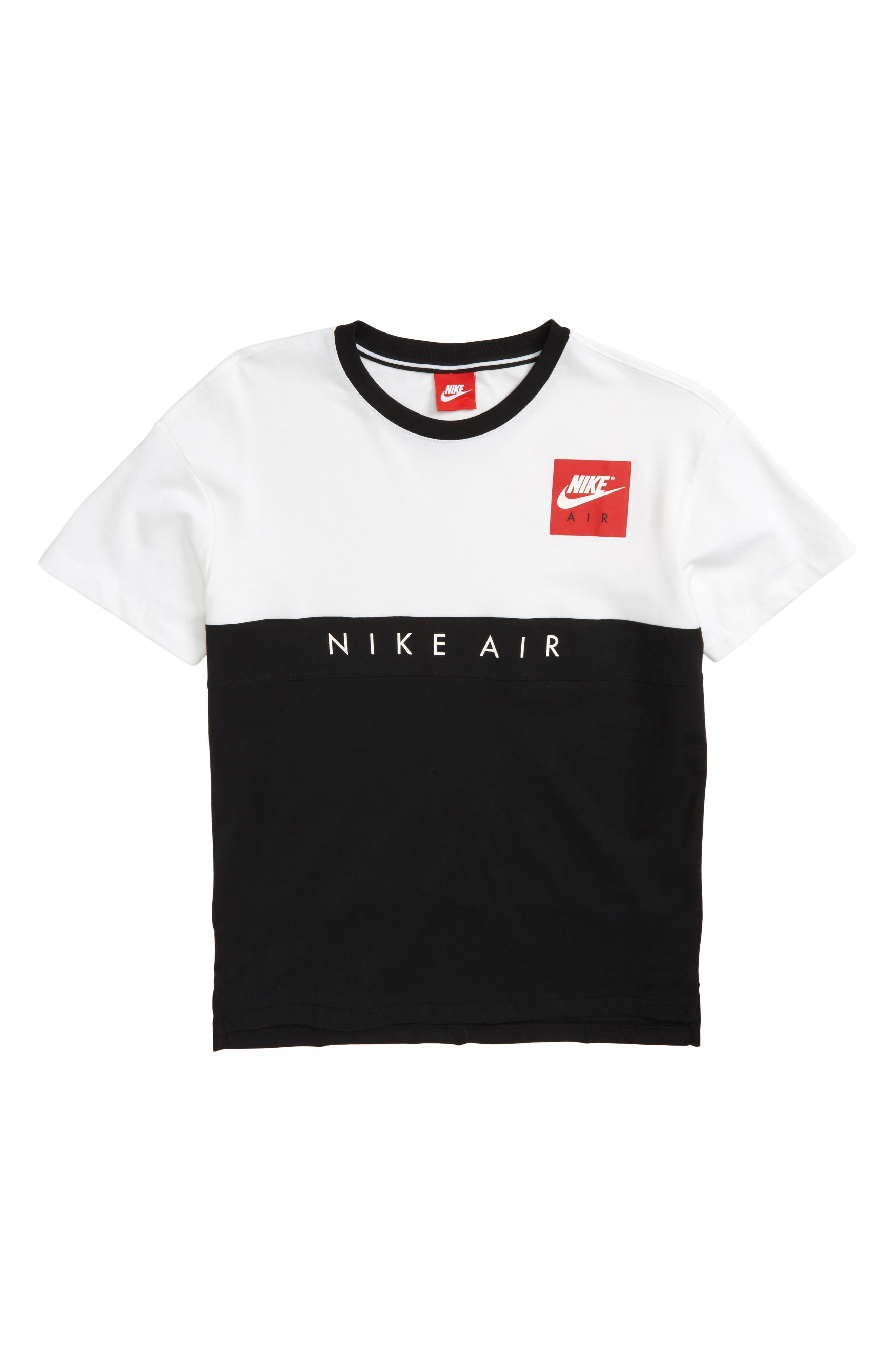 Air Shirt,                         Main,                         color, White/ Black