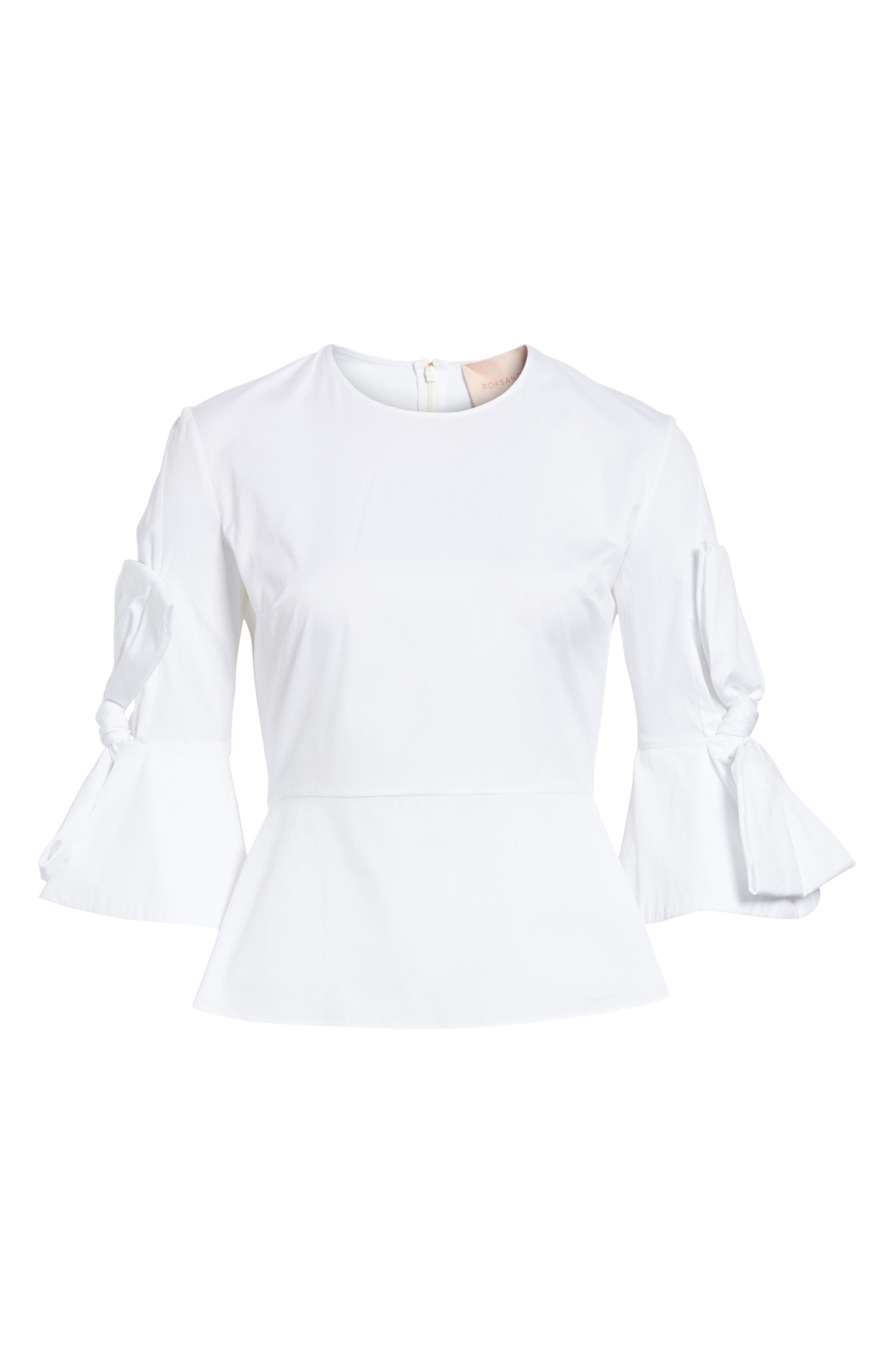 Kemi Top,                             Alternate thumbnail 6, color,                             White