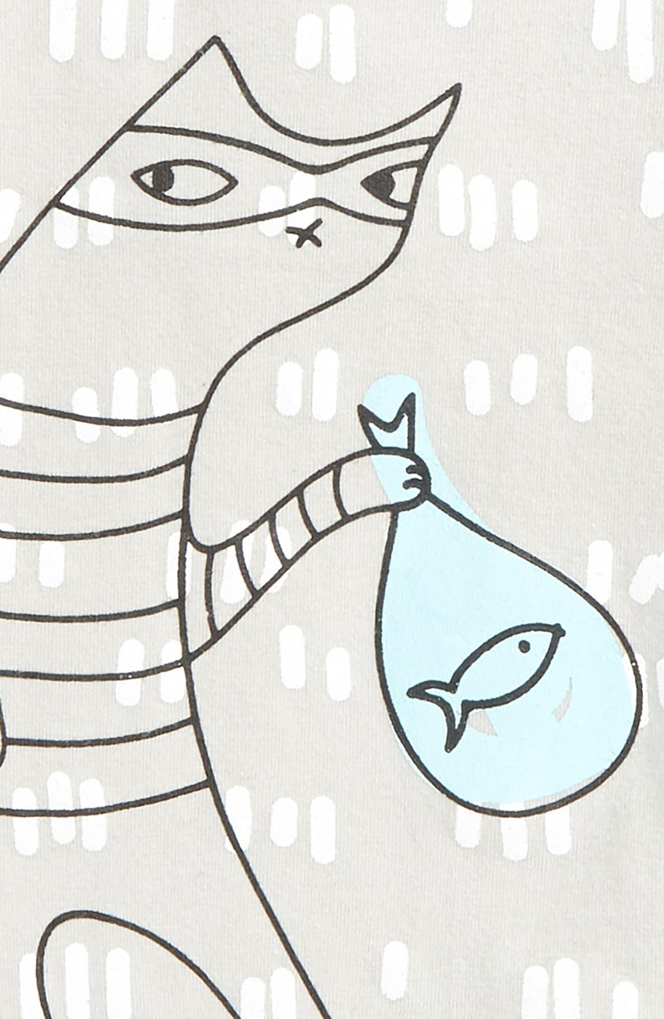 Alternate Image 2  - SOOKIbaby Cat Bandit Romper (Baby)
