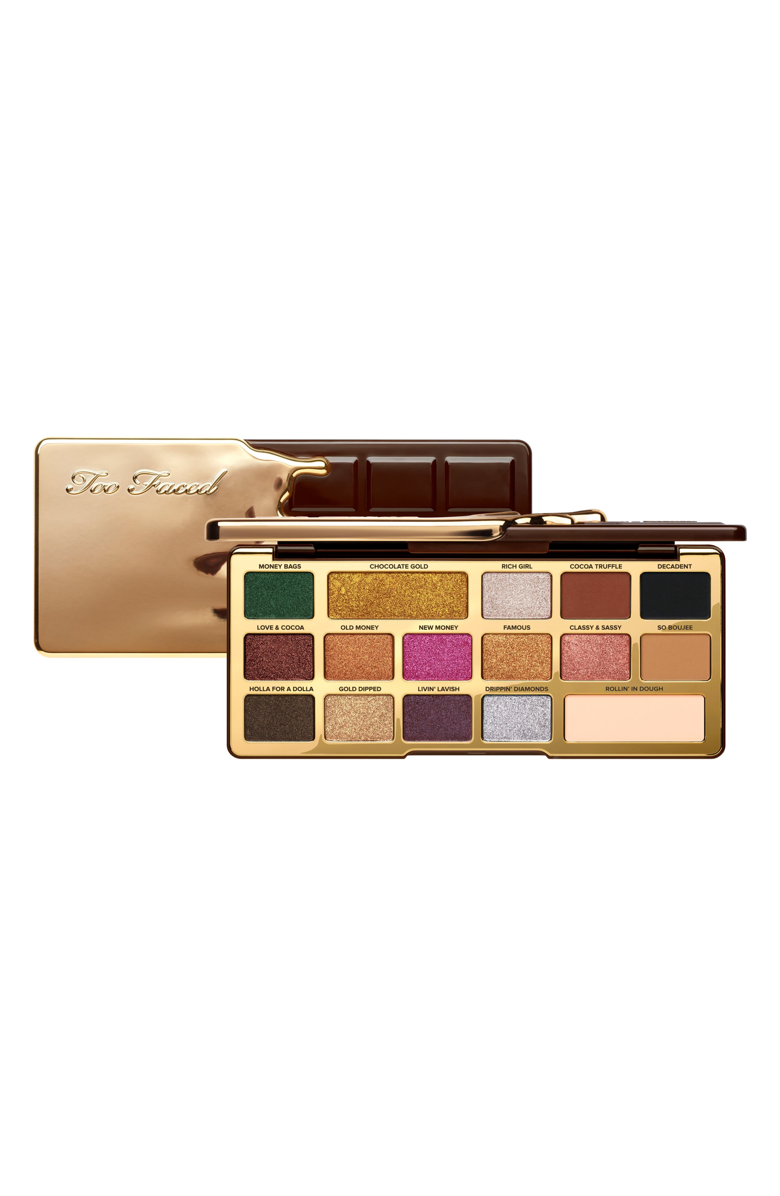 Chocolate Gold Eyeshadow Palette,                             Alternate thumbnail 8, color,                             No Color