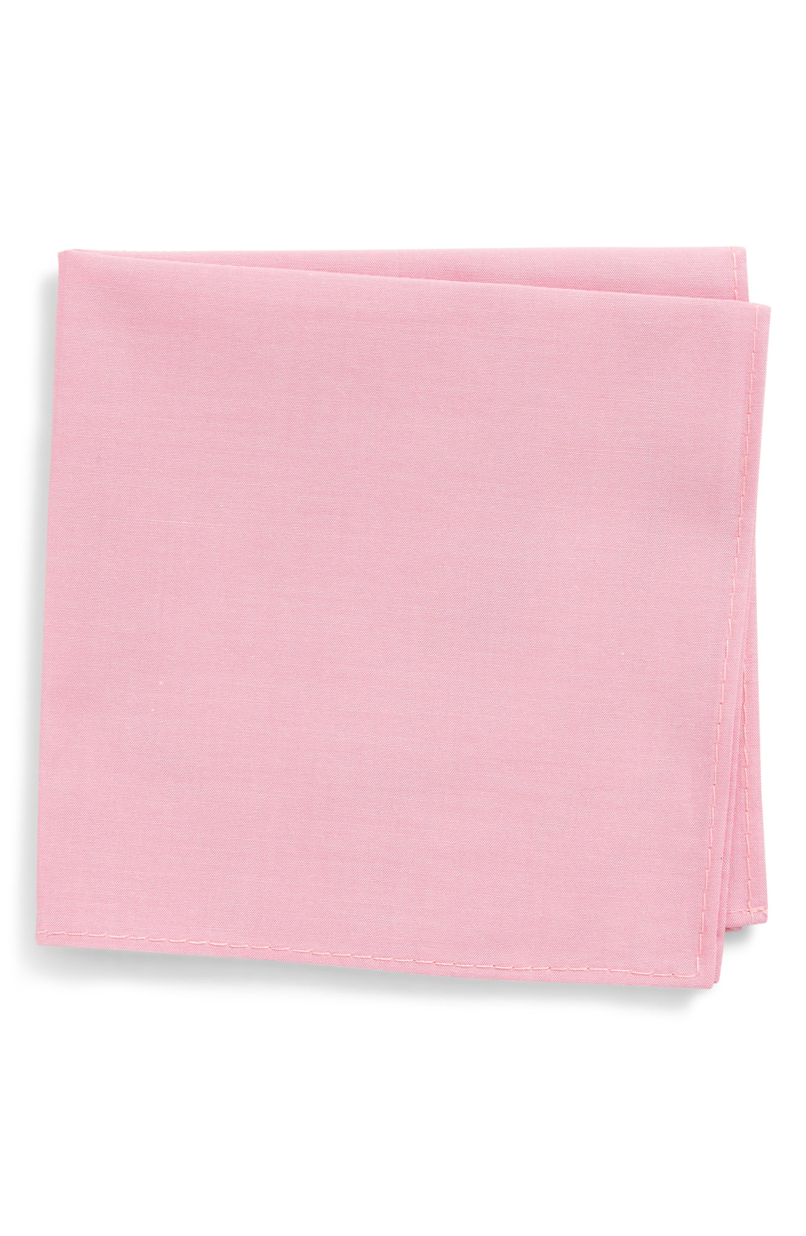 Silk Pocket Square,                             Main thumbnail 1, color,                             Pink