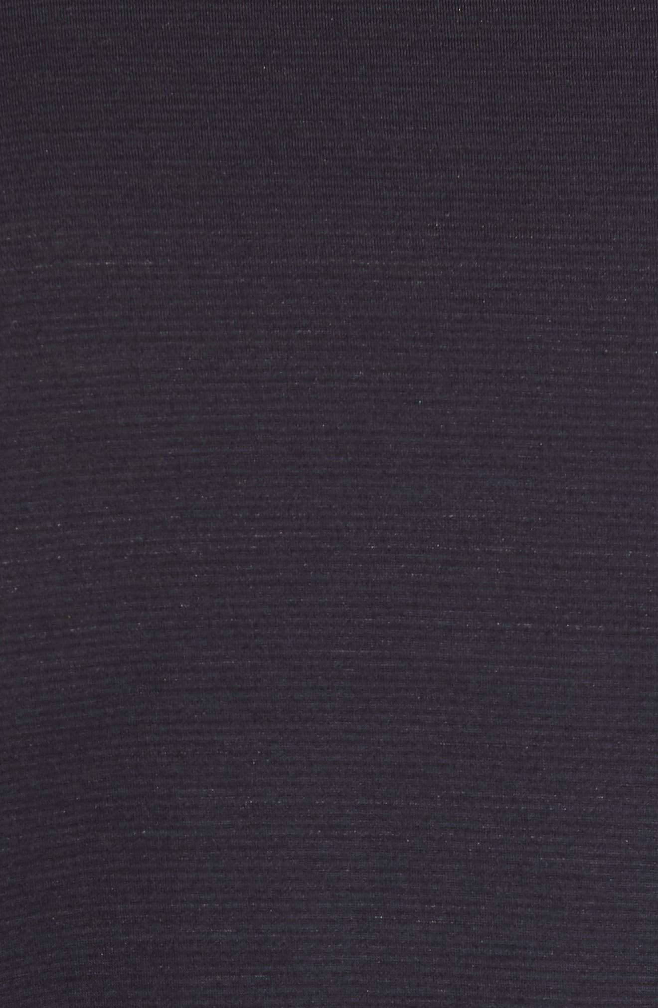 Merino 150 Wool Blend Polo Shirt,                             Alternate thumbnail 5, color,                             Charcoal