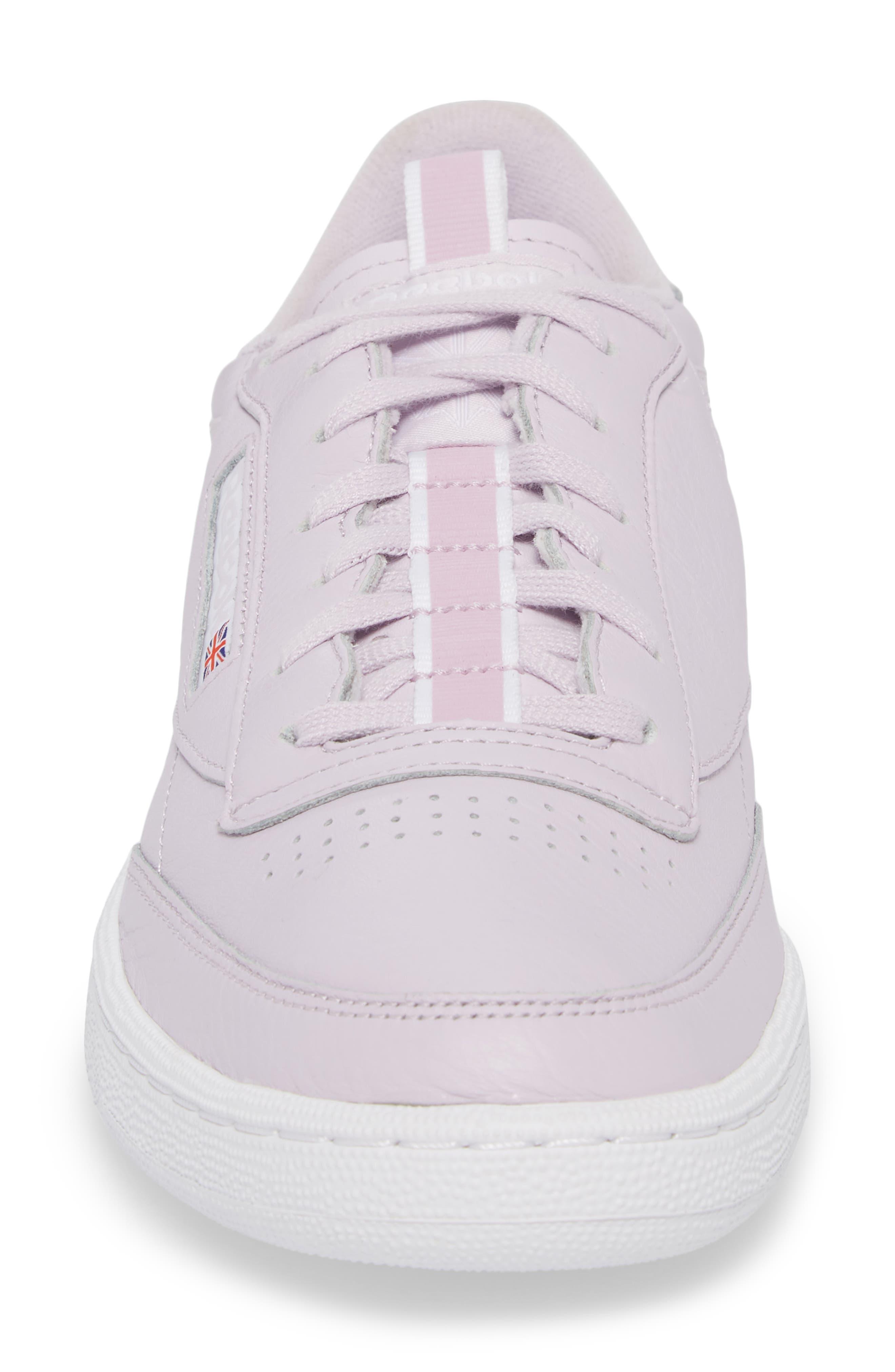 Club C 85 RT Sneaker,                             Alternate thumbnail 4, color,                             Quartz/ White/ Purple Fog