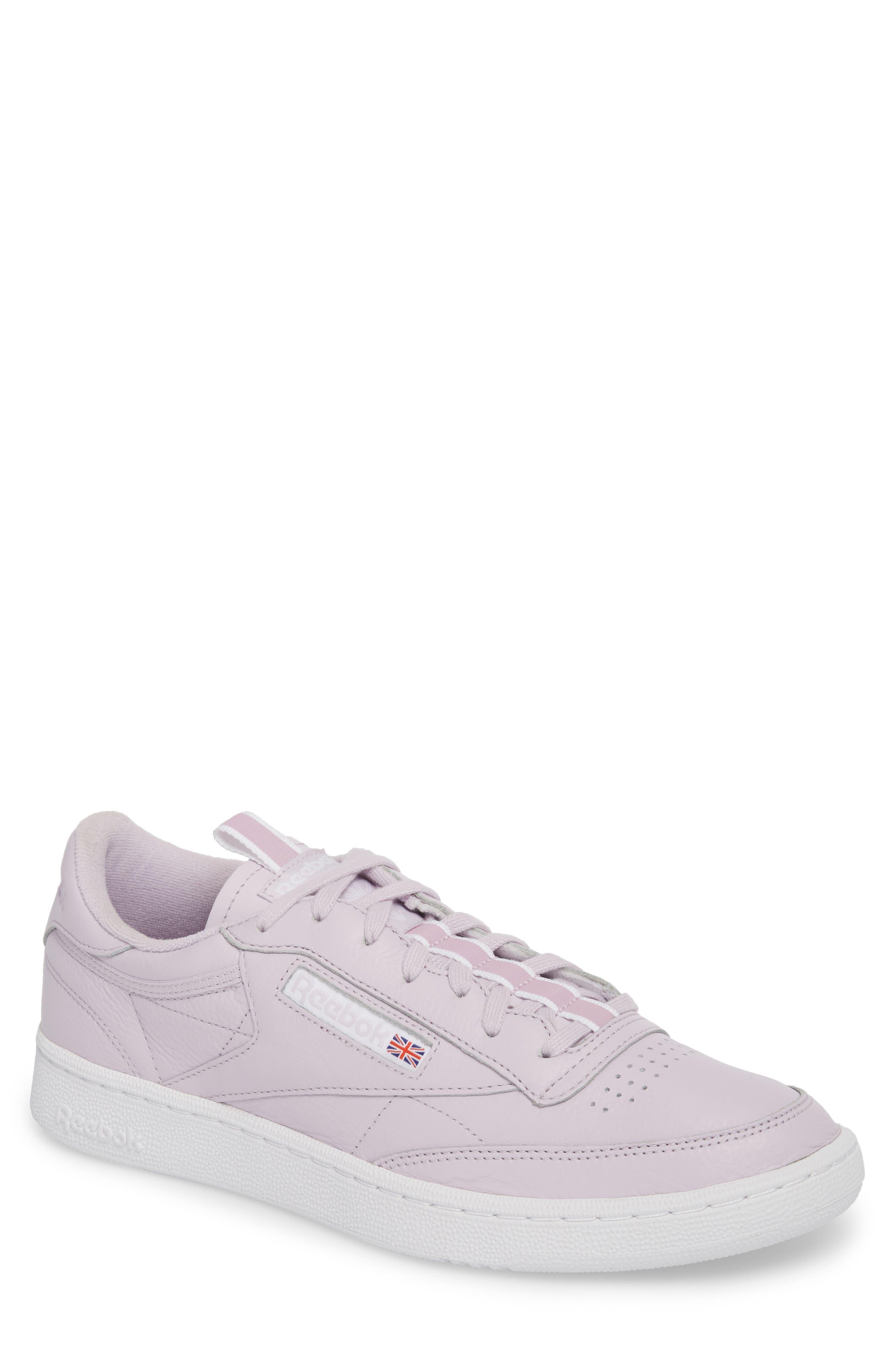 Club C 85 RT Sneaker,                         Main,                         color, Quartz/ White/ Purple Fog