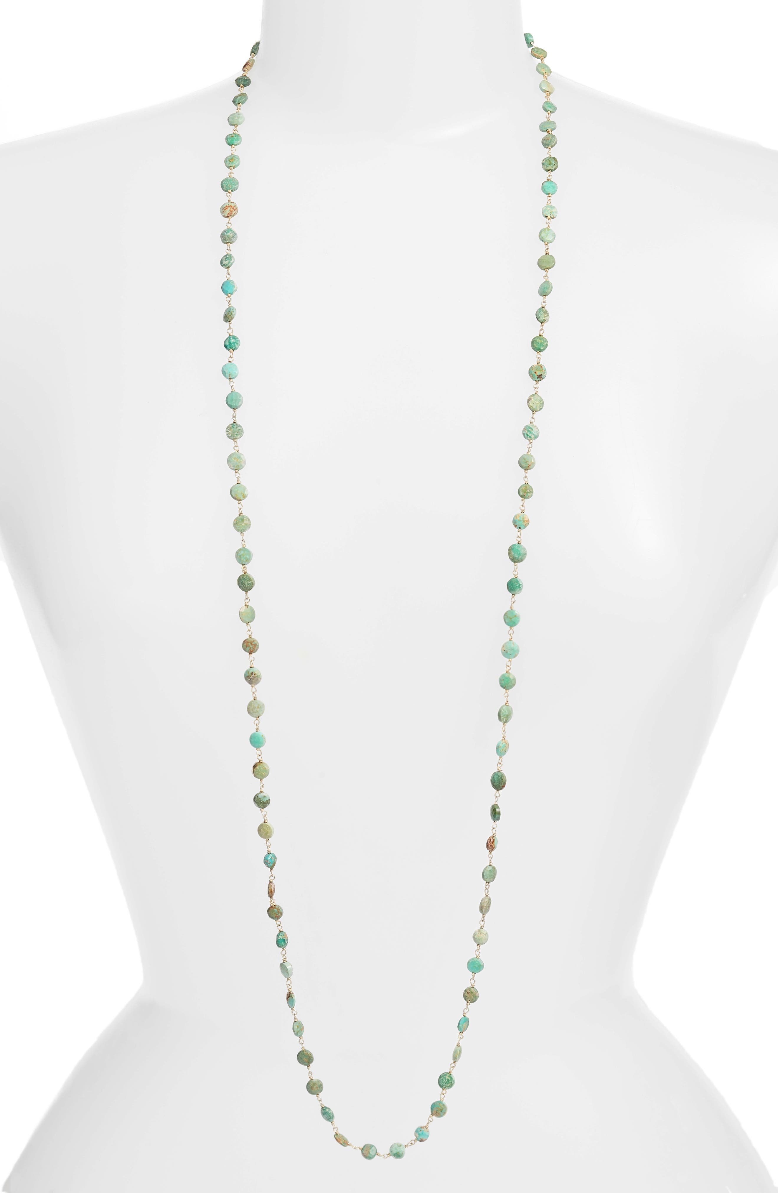 Diana Coin Necklace,                             Main thumbnail 1, color,                             Turquoise Coin