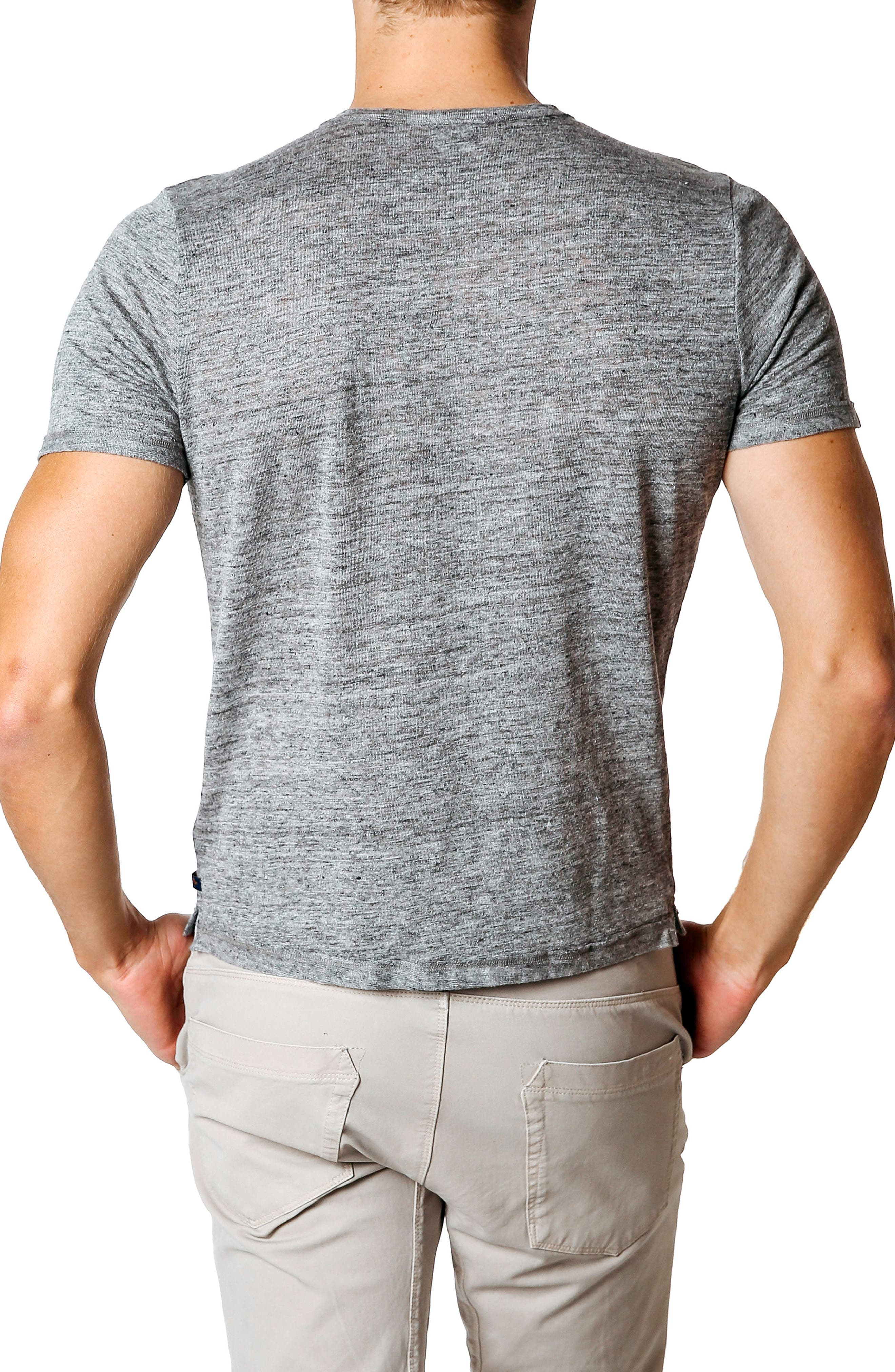 Trim Fit Heathered Jersey Henley,                             Alternate thumbnail 2, color,                             Grey Heather
