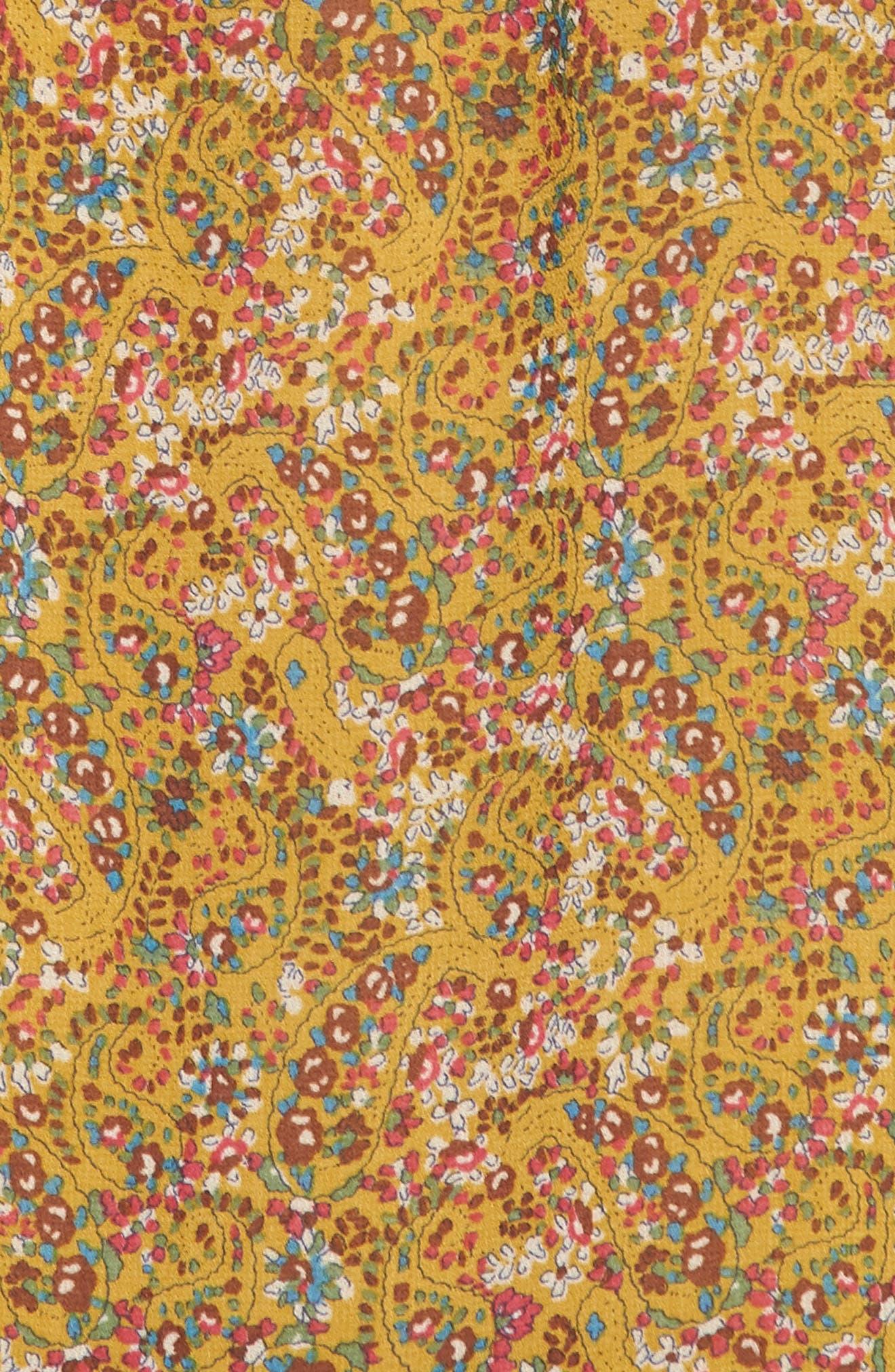 Madison Floral Sundress,                             Alternate thumbnail 5, color,                             Yellow Multi