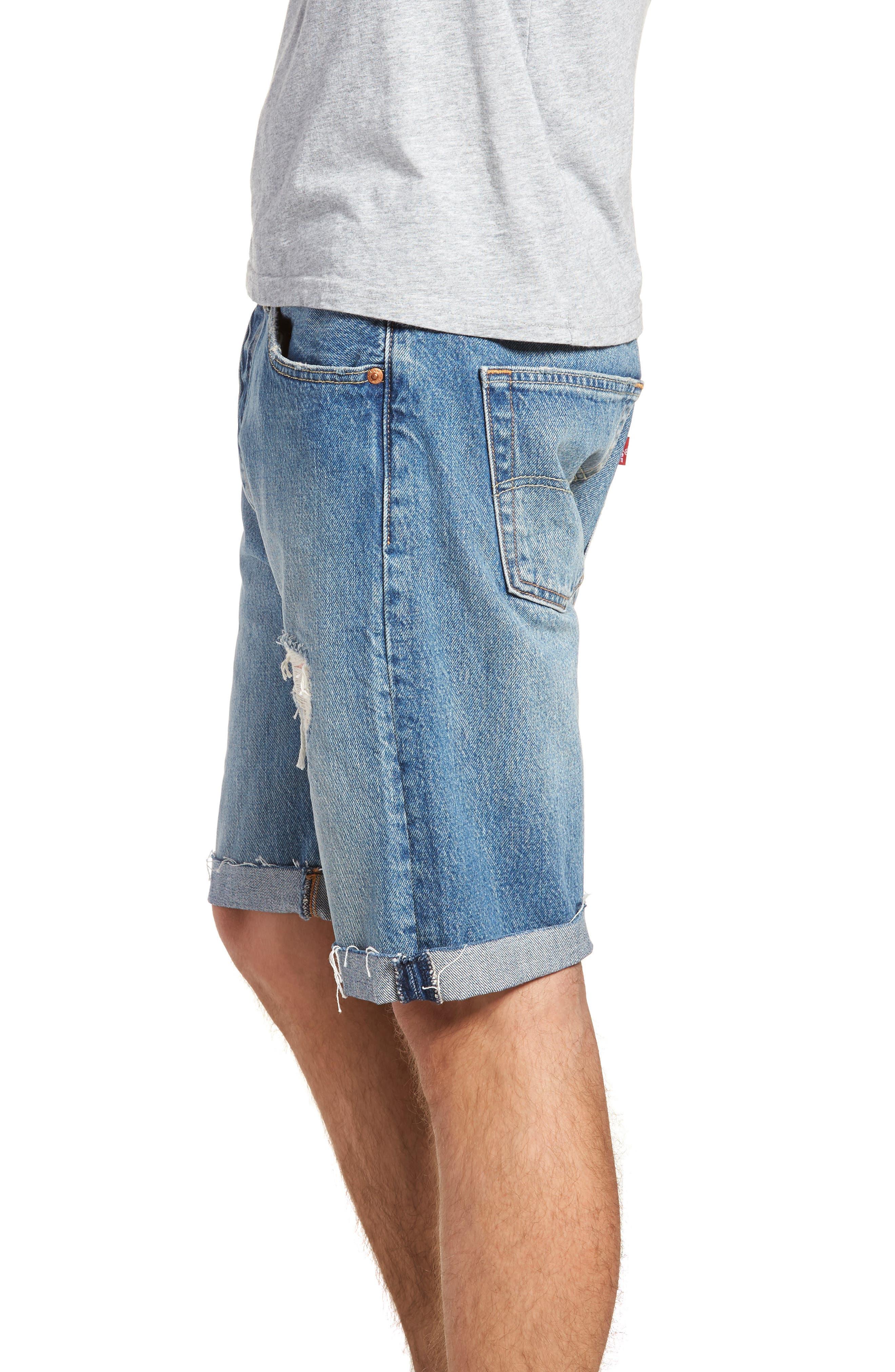 501<sup>®</sup> Cutoff Denim Shorts,                             Alternate thumbnail 3, color,                             Kauai Dx