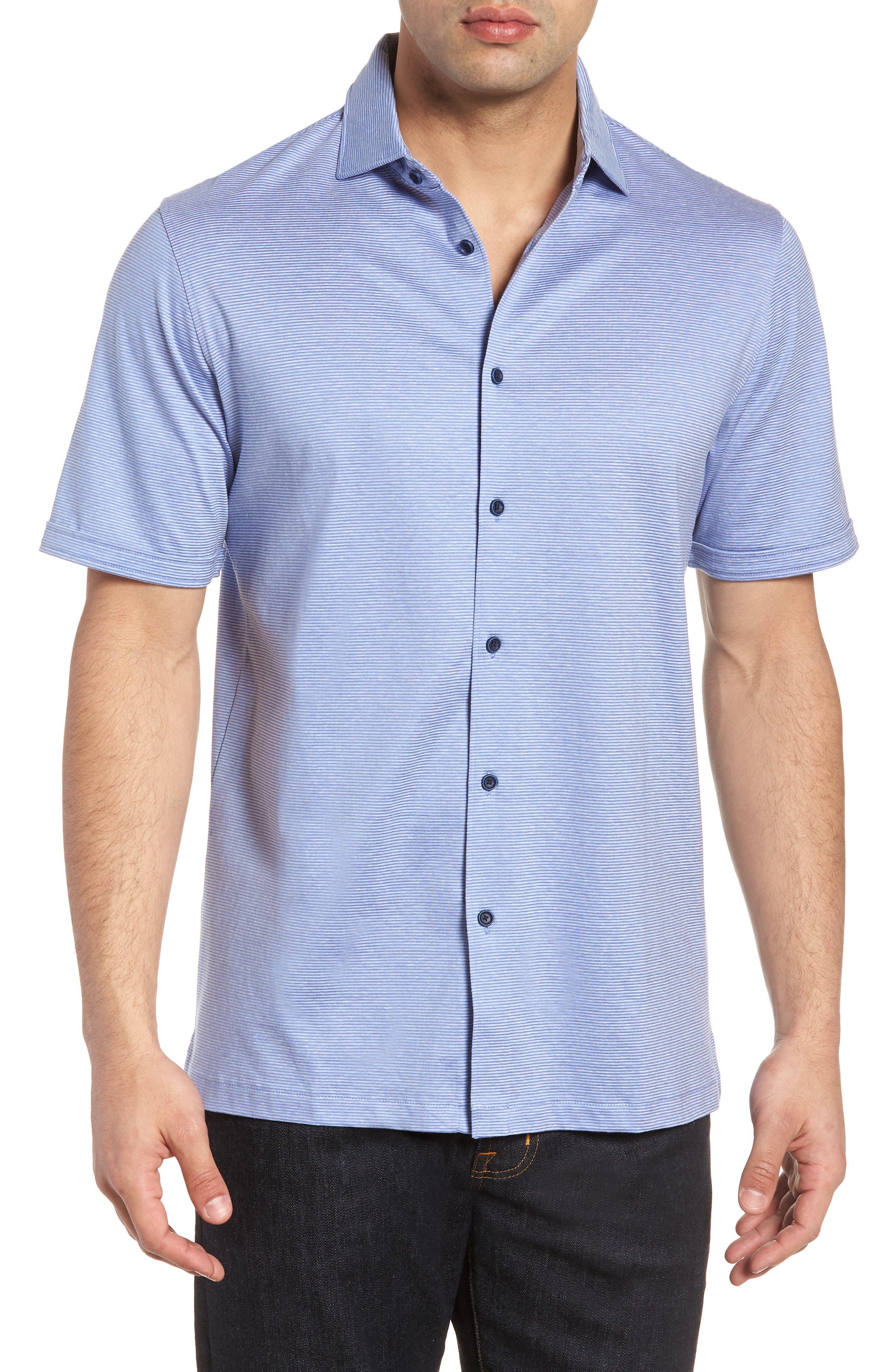 Regular Fit Knit Sport Shirt,                         Main,                         color, Lilac