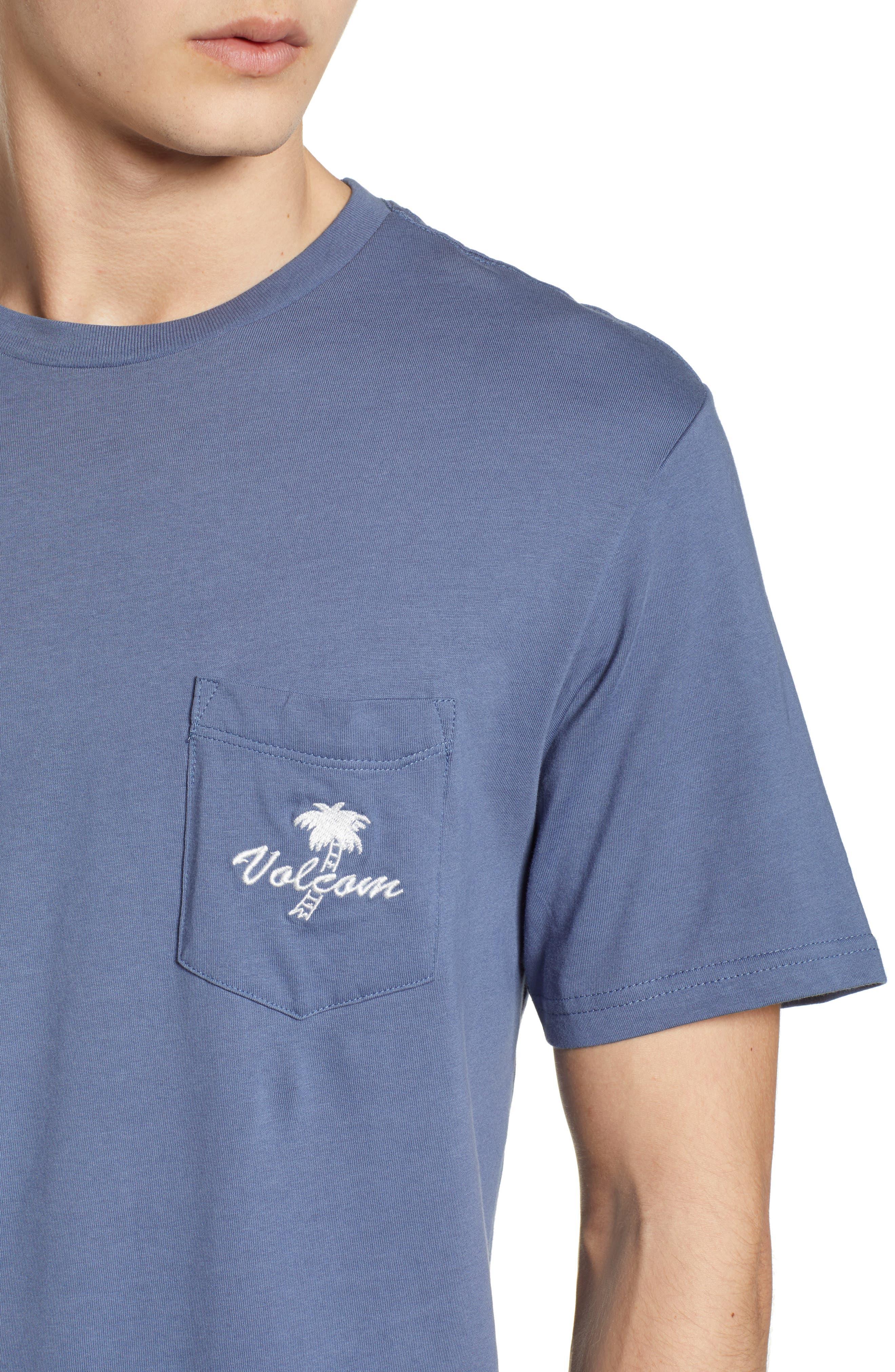 Last Resort Pocket T-Shirt,                             Alternate thumbnail 4, color,                             Deep Blue