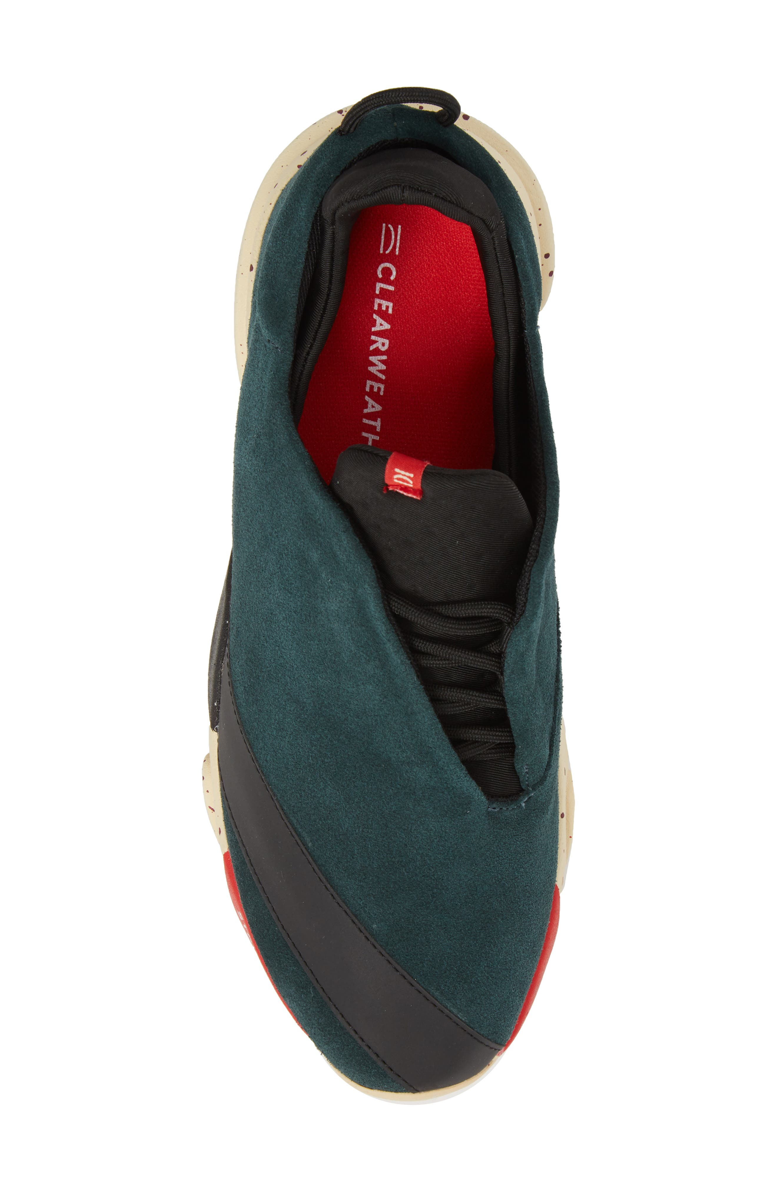The Alpha Sneaker,                             Alternate thumbnail 5, color,                             Sequoia Green Leather