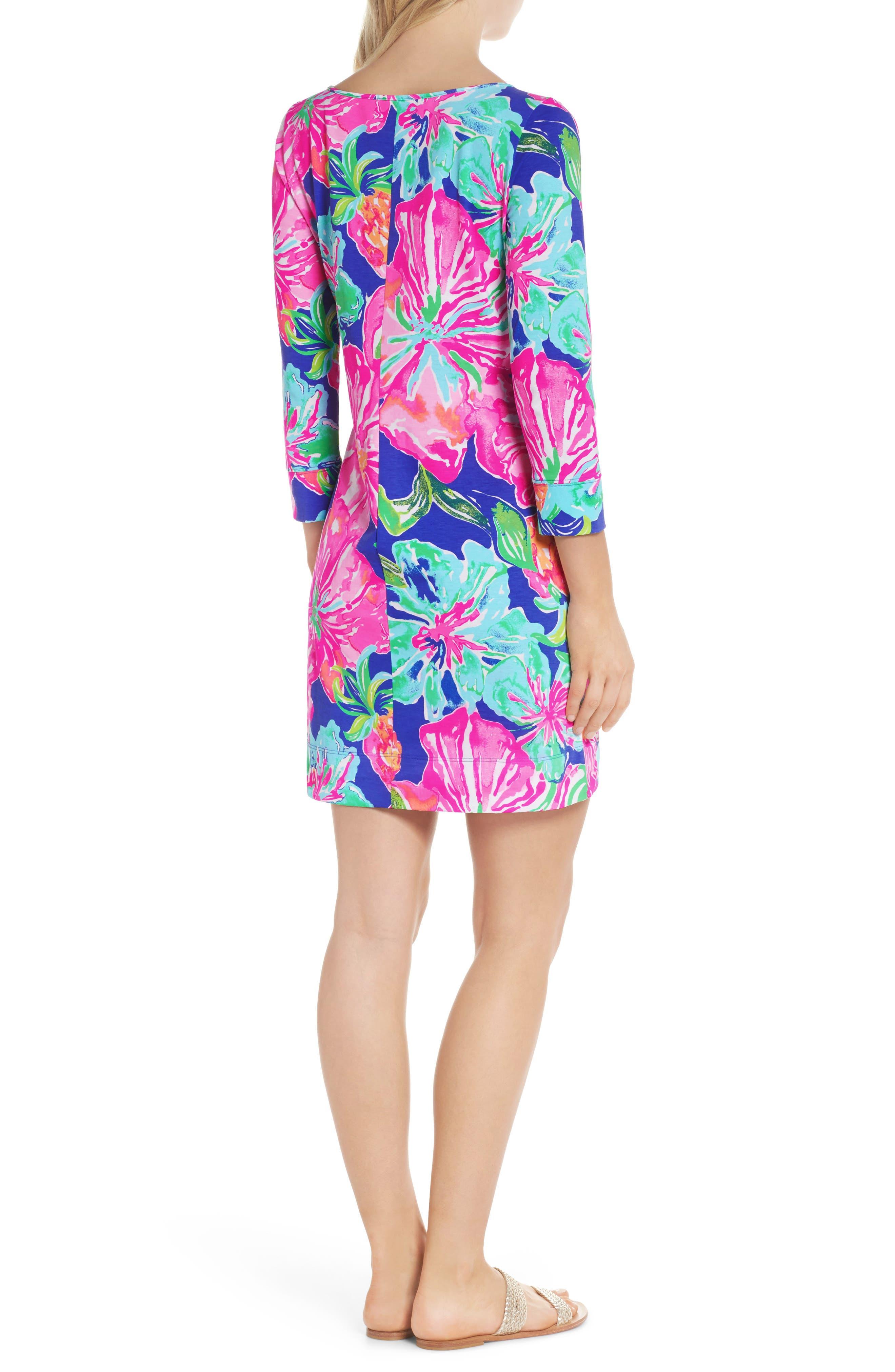 Marlowe Shift Dress,                             Alternate thumbnail 2, color,                             Beckon Blue Jungle Utopia