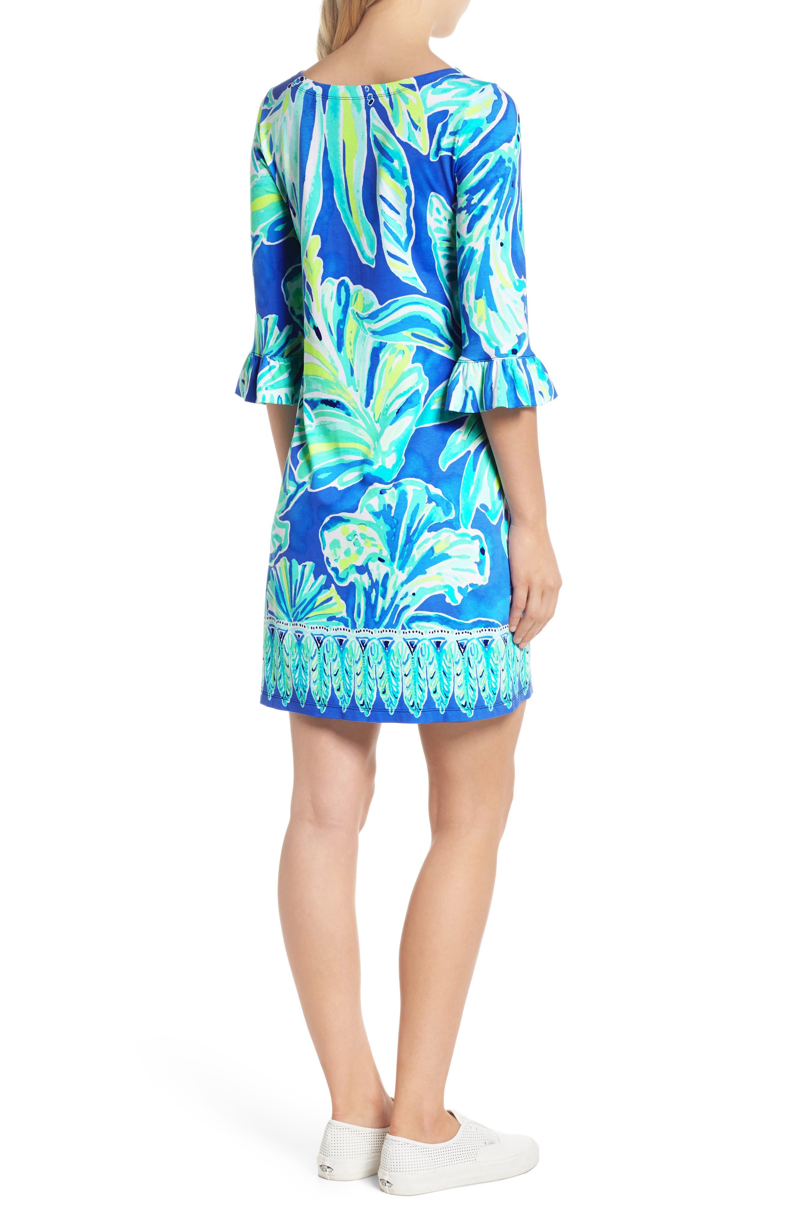 Sophie UPF 50+ Shift Dress,                             Alternate thumbnail 2, color,                             Beckon Blue Palm Passage