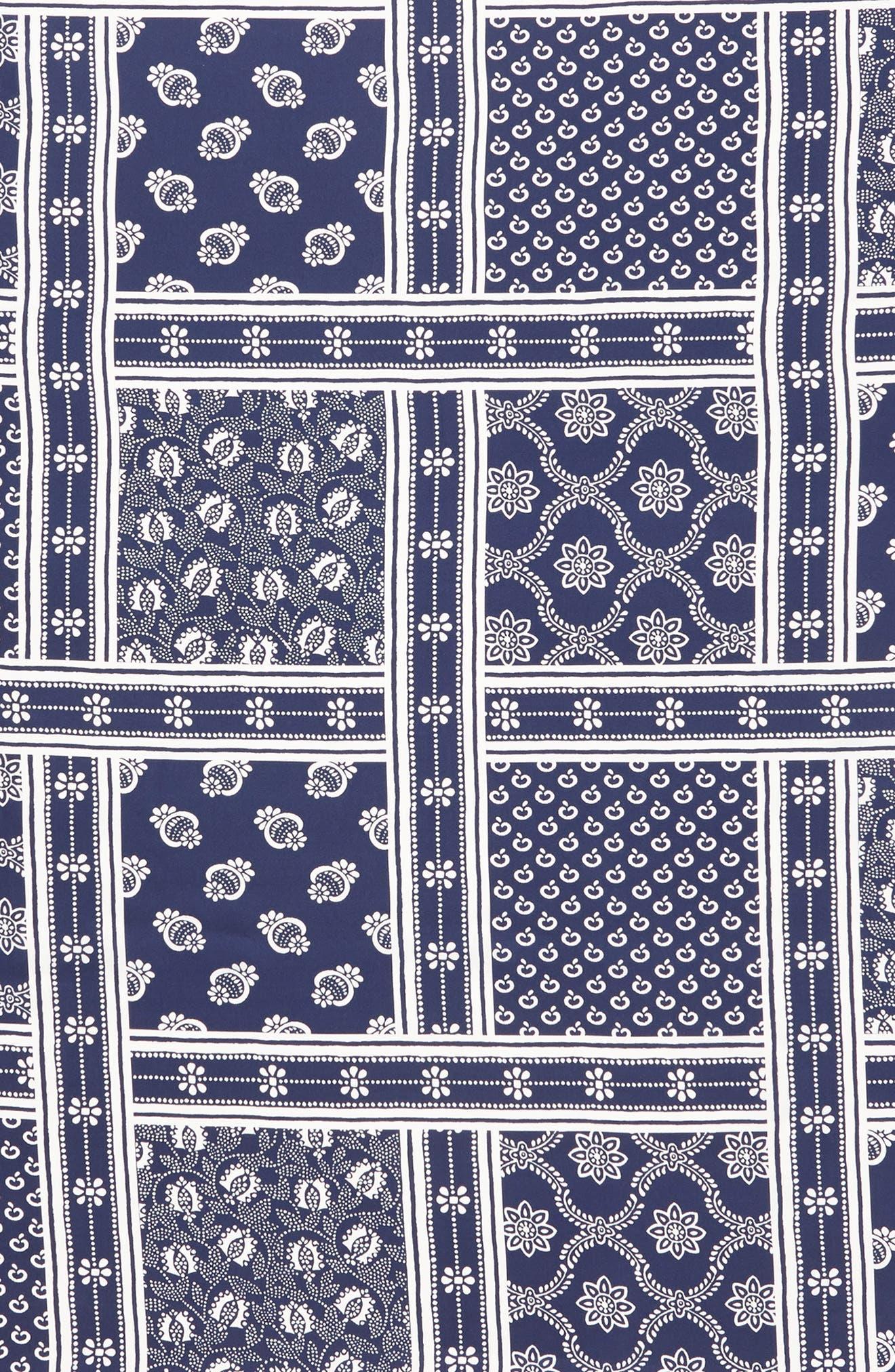 Bandana Print Silk Scarf,                             Alternate thumbnail 4, color,                             White