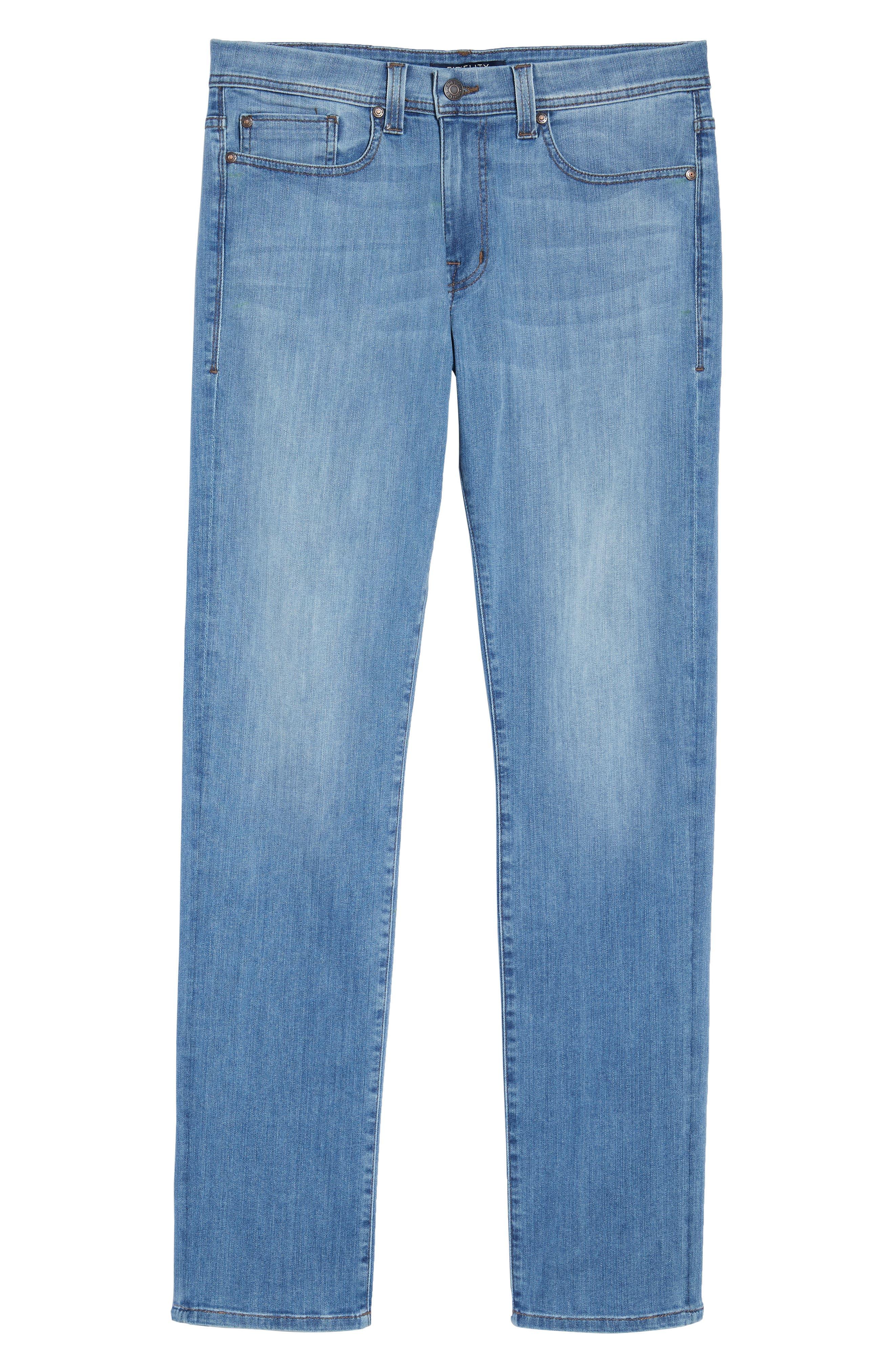 Jimmy Slim Straight Fit Jeans,                             Alternate thumbnail 6, color,                             Brixton Blue