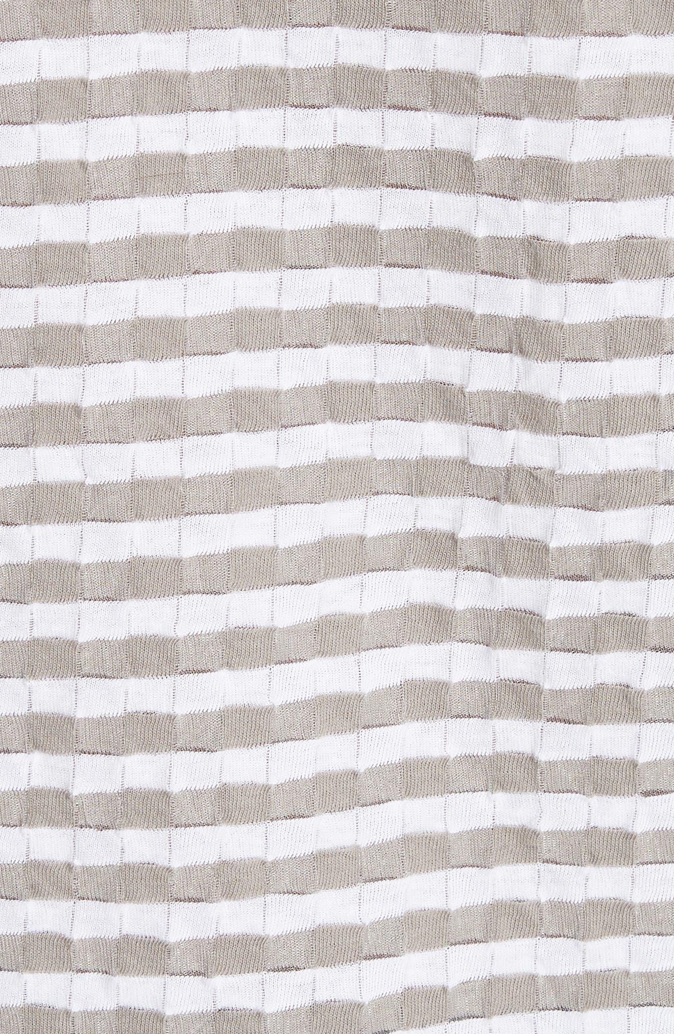 Damier Stripe Tee,                             Alternate thumbnail 5, color,                             White