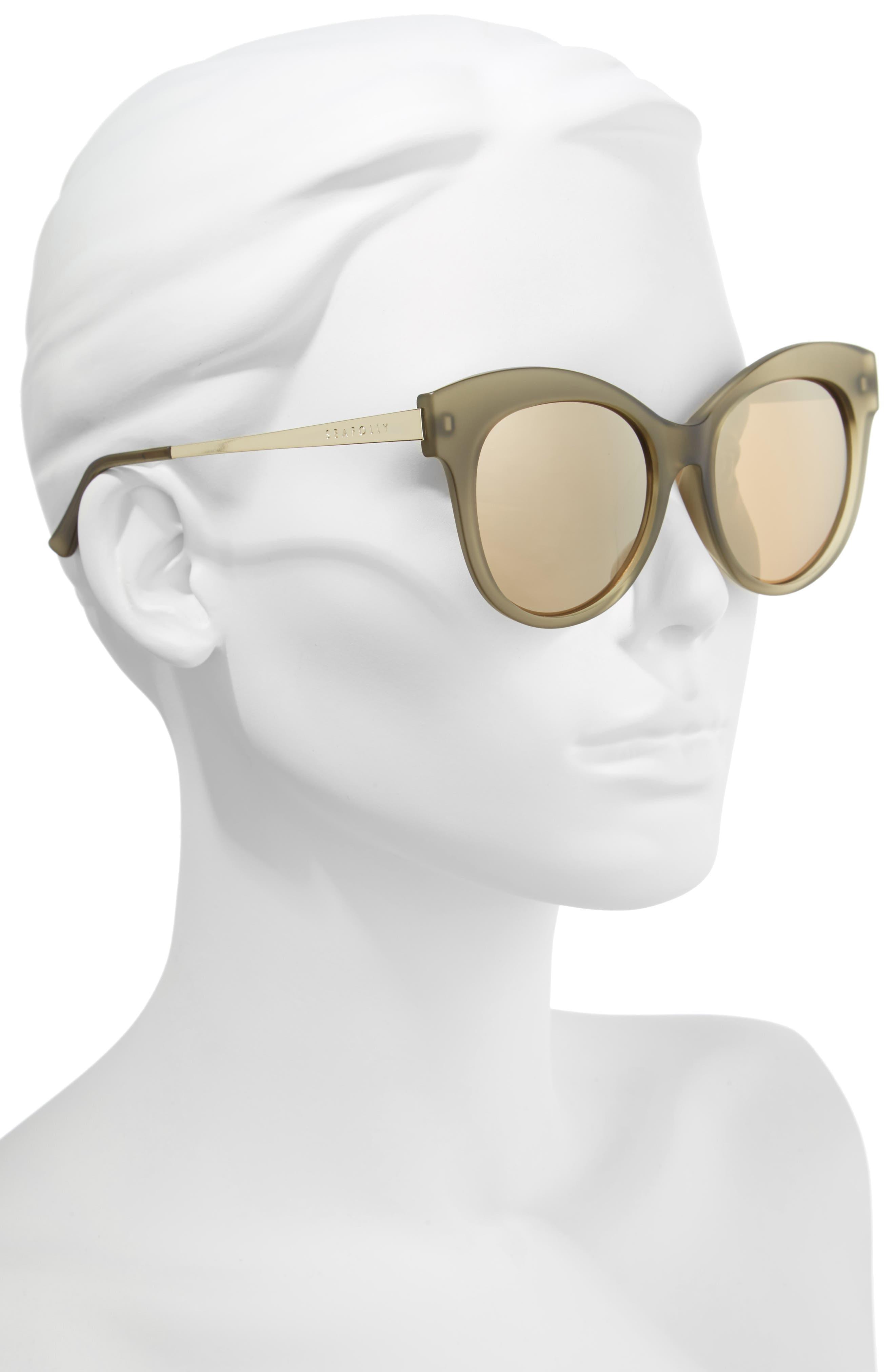 Hayman 53mm Cat Eye Sunglasses,                             Alternate thumbnail 2, color,                             Moss