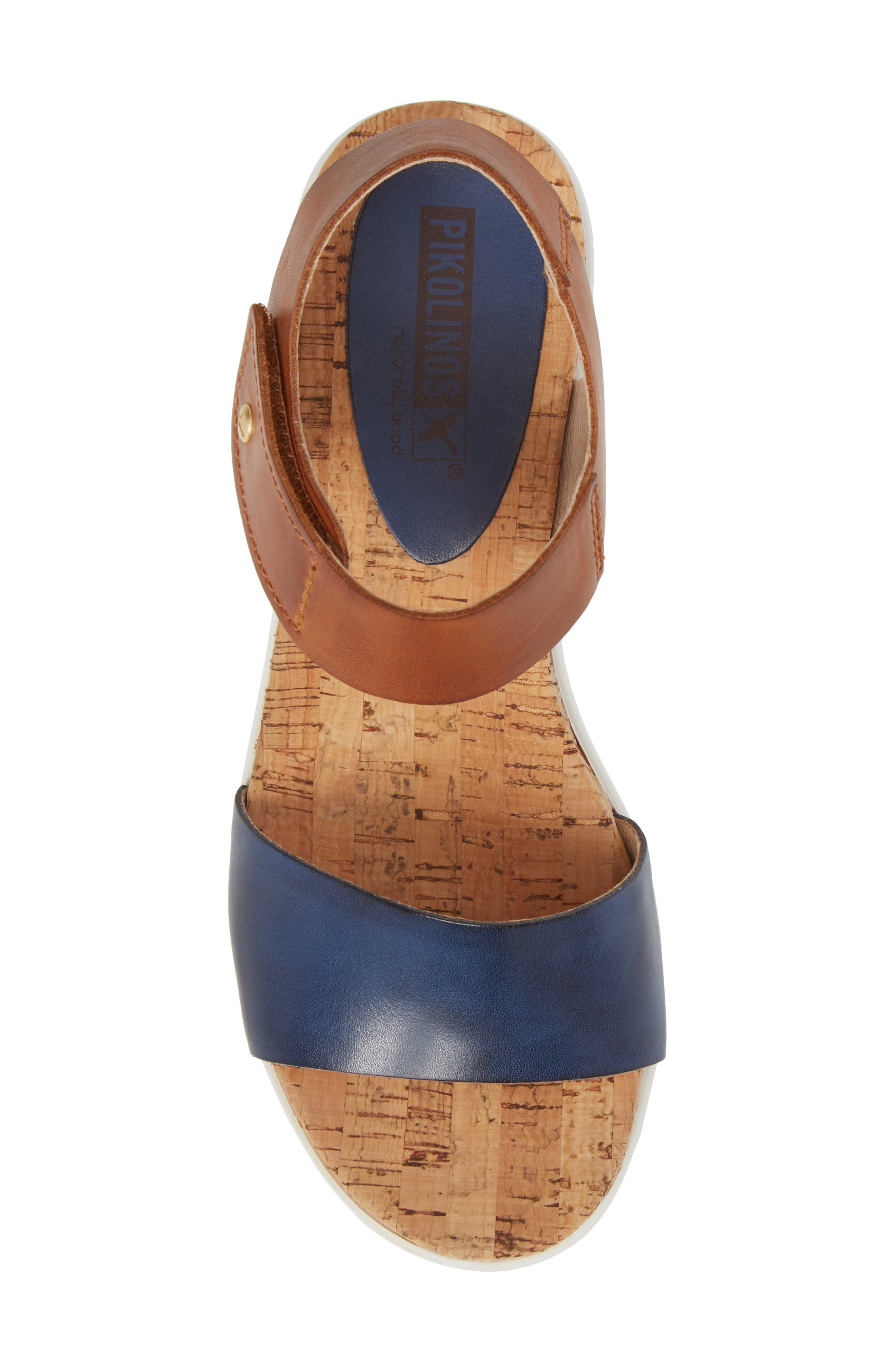 Mykonos Sport Sandal,                             Alternate thumbnail 5, color,                             Royal Blue Leather
