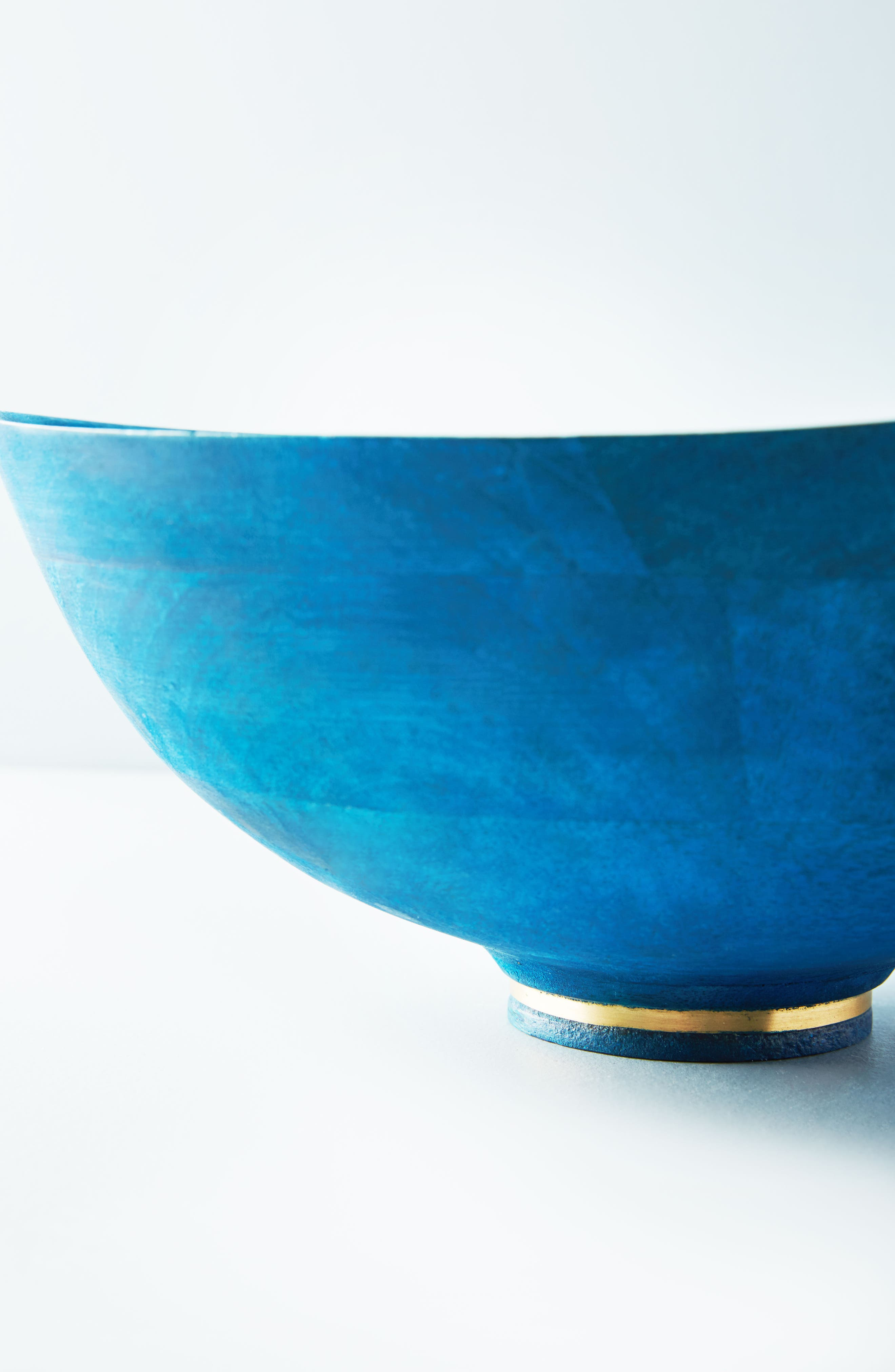 Hearthside Wood Serving Bowl,                             Alternate thumbnail 2, color,                             Sapphire
