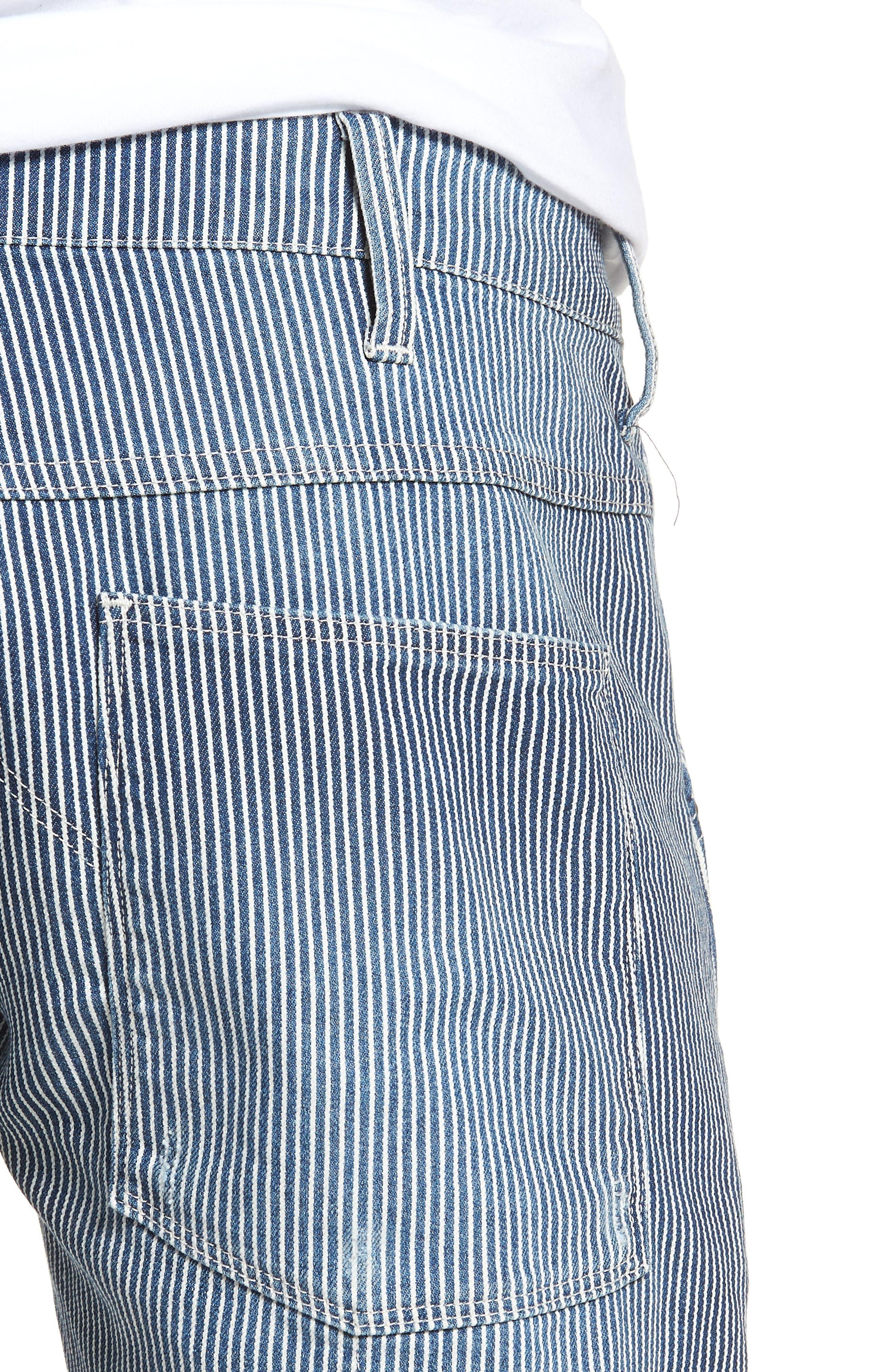 3D Slim Pants,                             Alternate thumbnail 4, color,                             Medium Aged Destroy