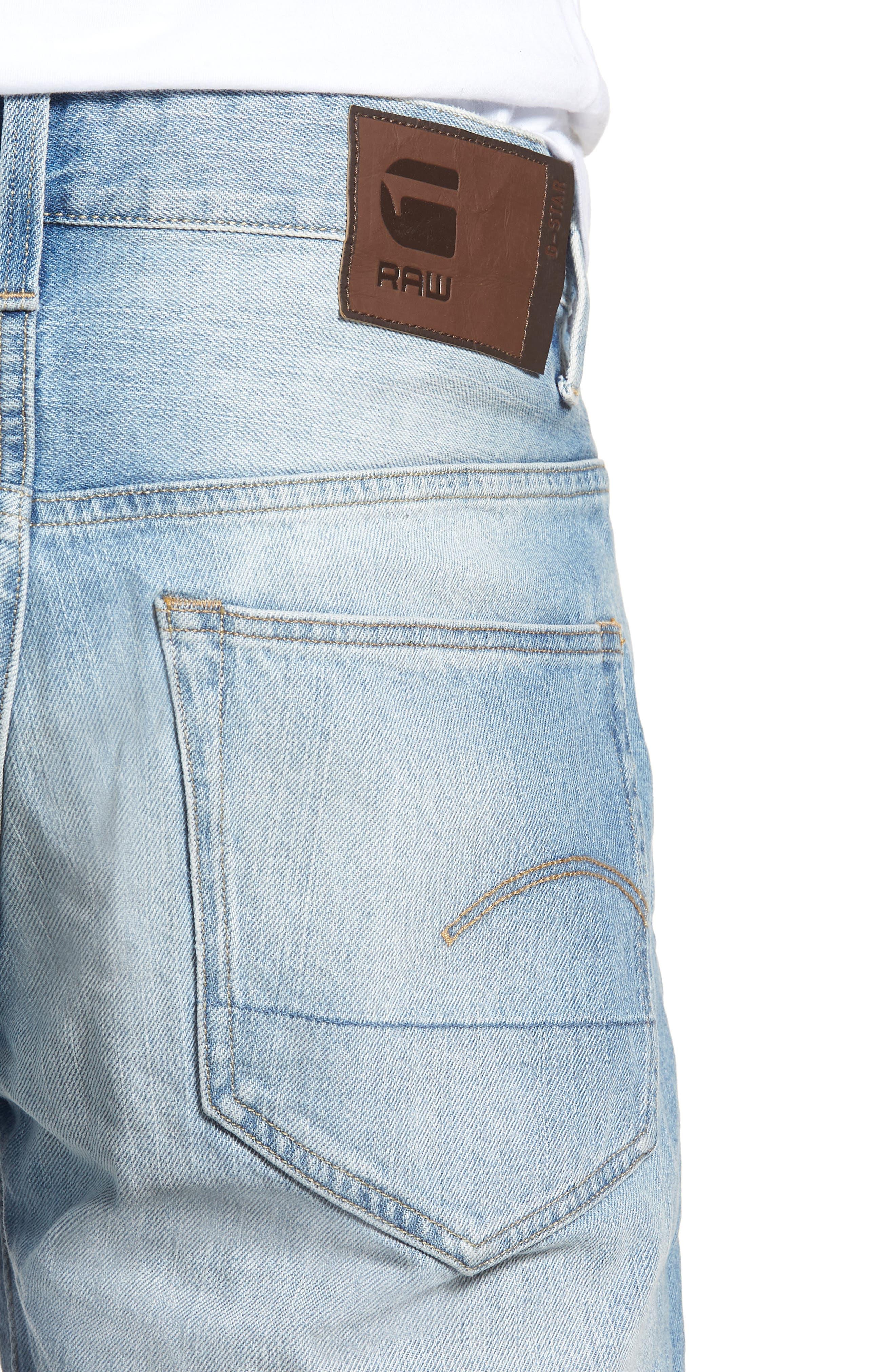 Slim Fit Denim Shorts,                             Alternate thumbnail 3, color,                             Light Aged