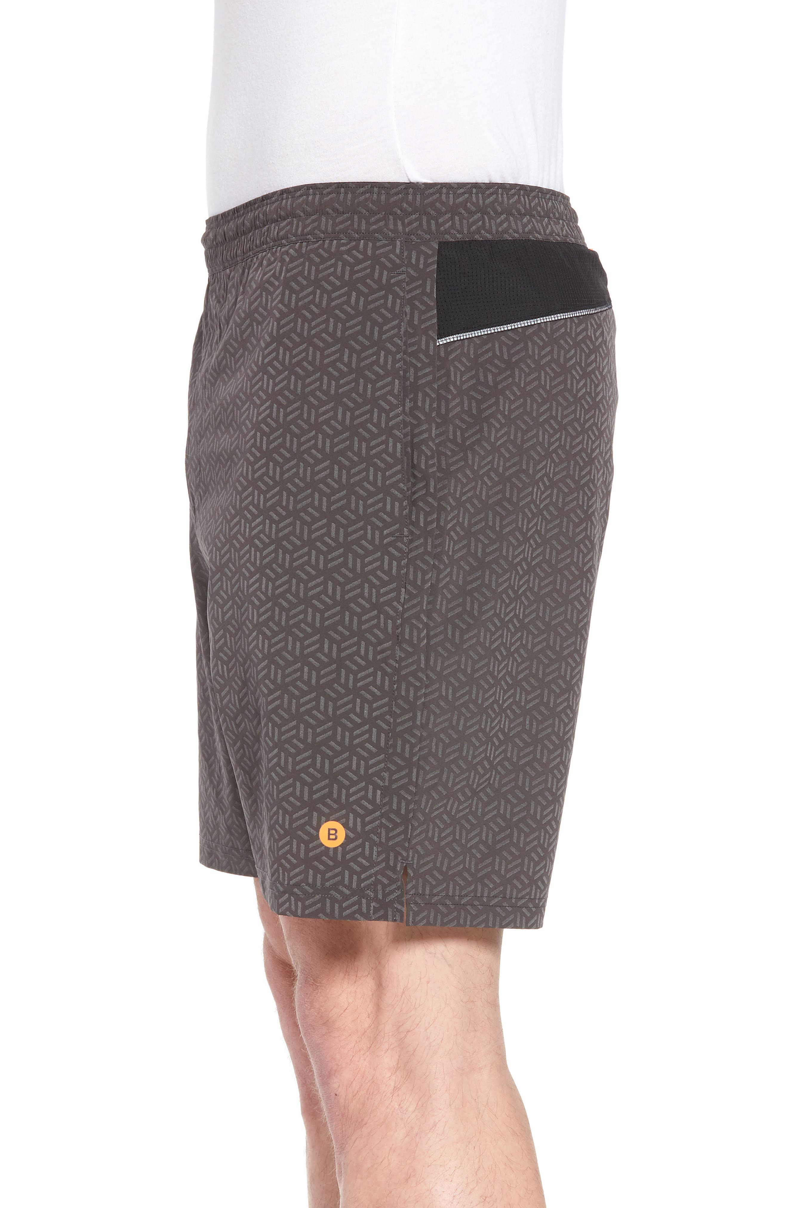 Stretch Shorts,                             Alternate thumbnail 3, color,                             Reflective Cube Geo