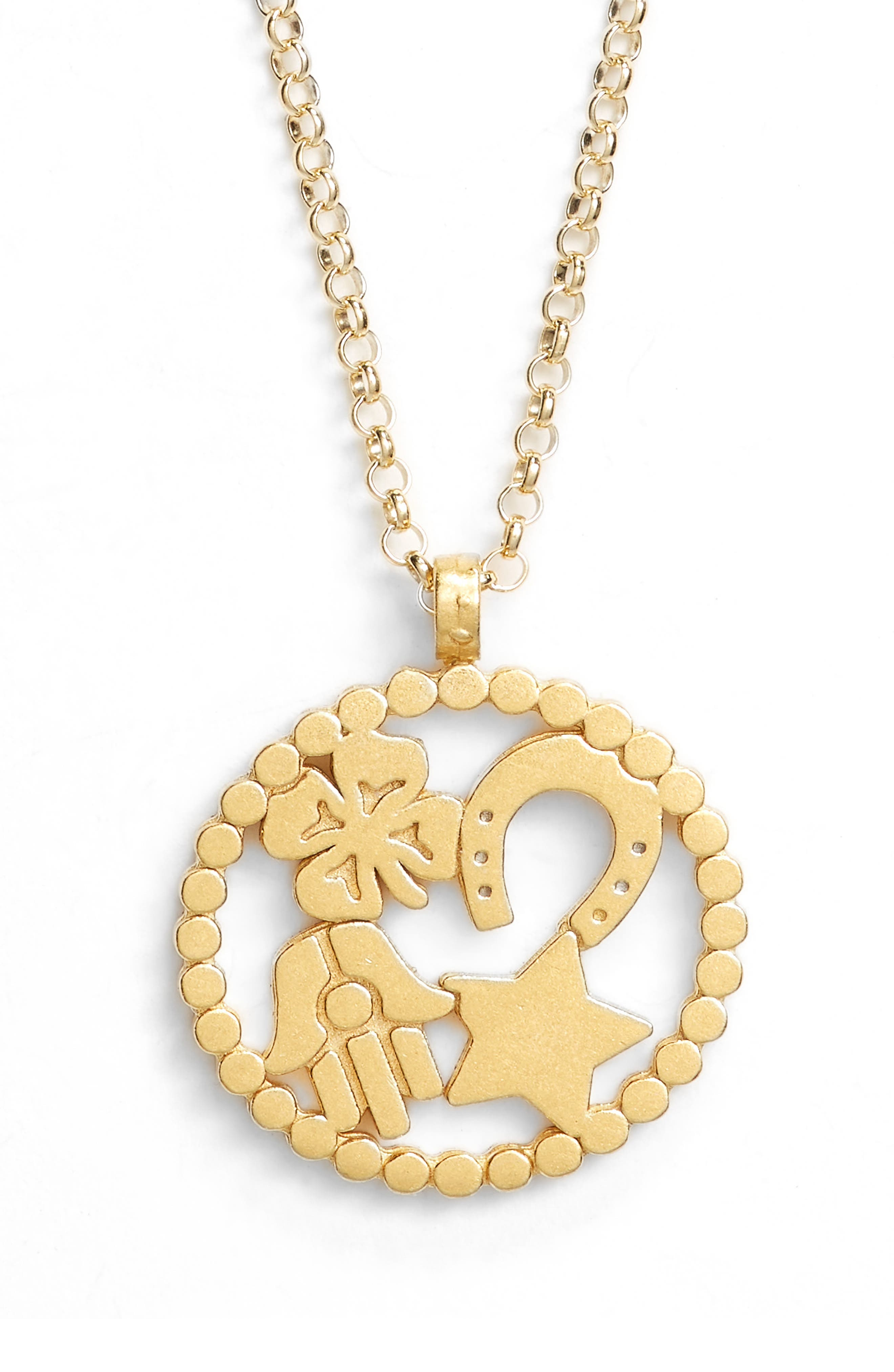 Circle of Abundance Necklace,                             Alternate thumbnail 3, color,                             Gold